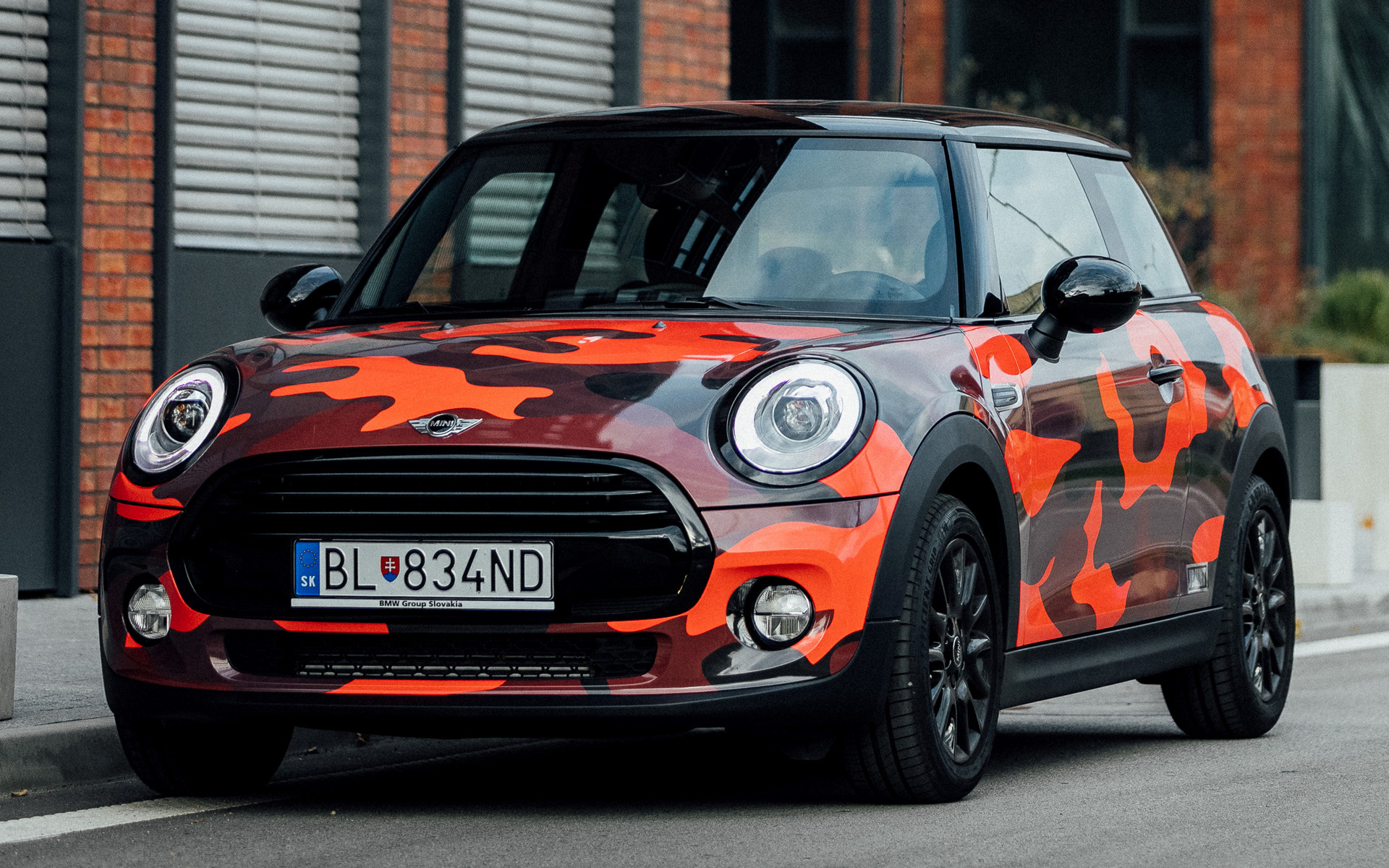 mini cooper design camo red  door  patrik wallpapers  hd images car pixel