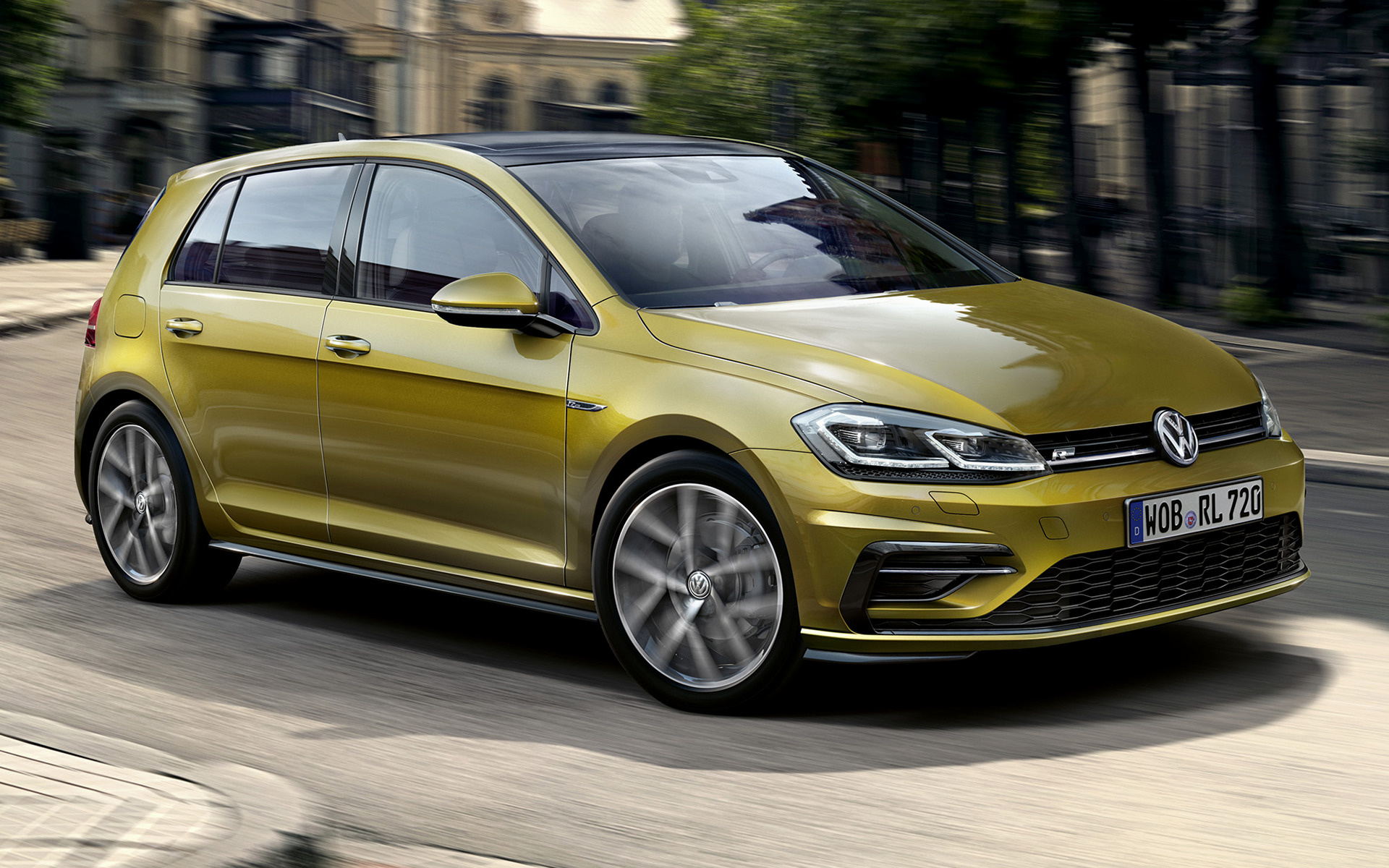 volkswagen golf r line 5 door 2017 wallpapers and hd images car pixel. Black Bedroom Furniture Sets. Home Design Ideas