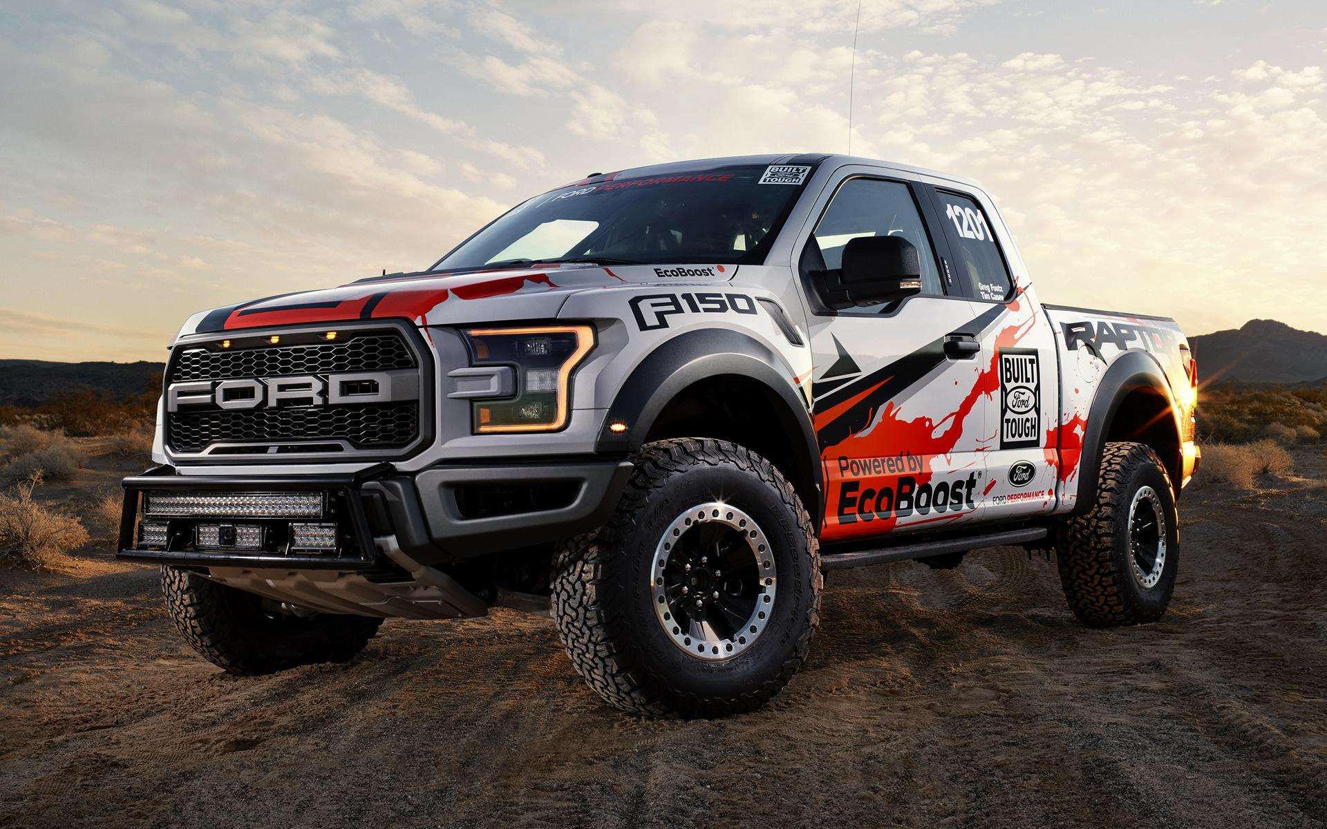 raptor ford 150 truck race racing road f150 desert velociraptor ws wallpapers hd wide versus winner compete rapter
