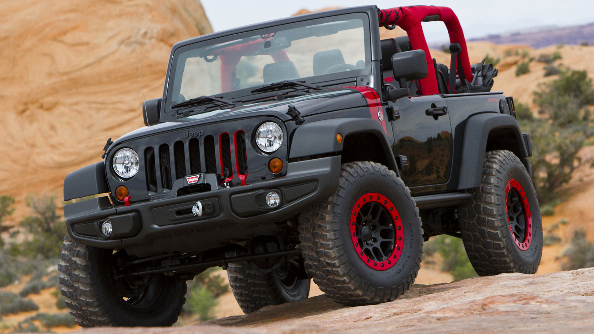 2014 Jeep Wrangler Level Red Concept Wallpapers And Hd