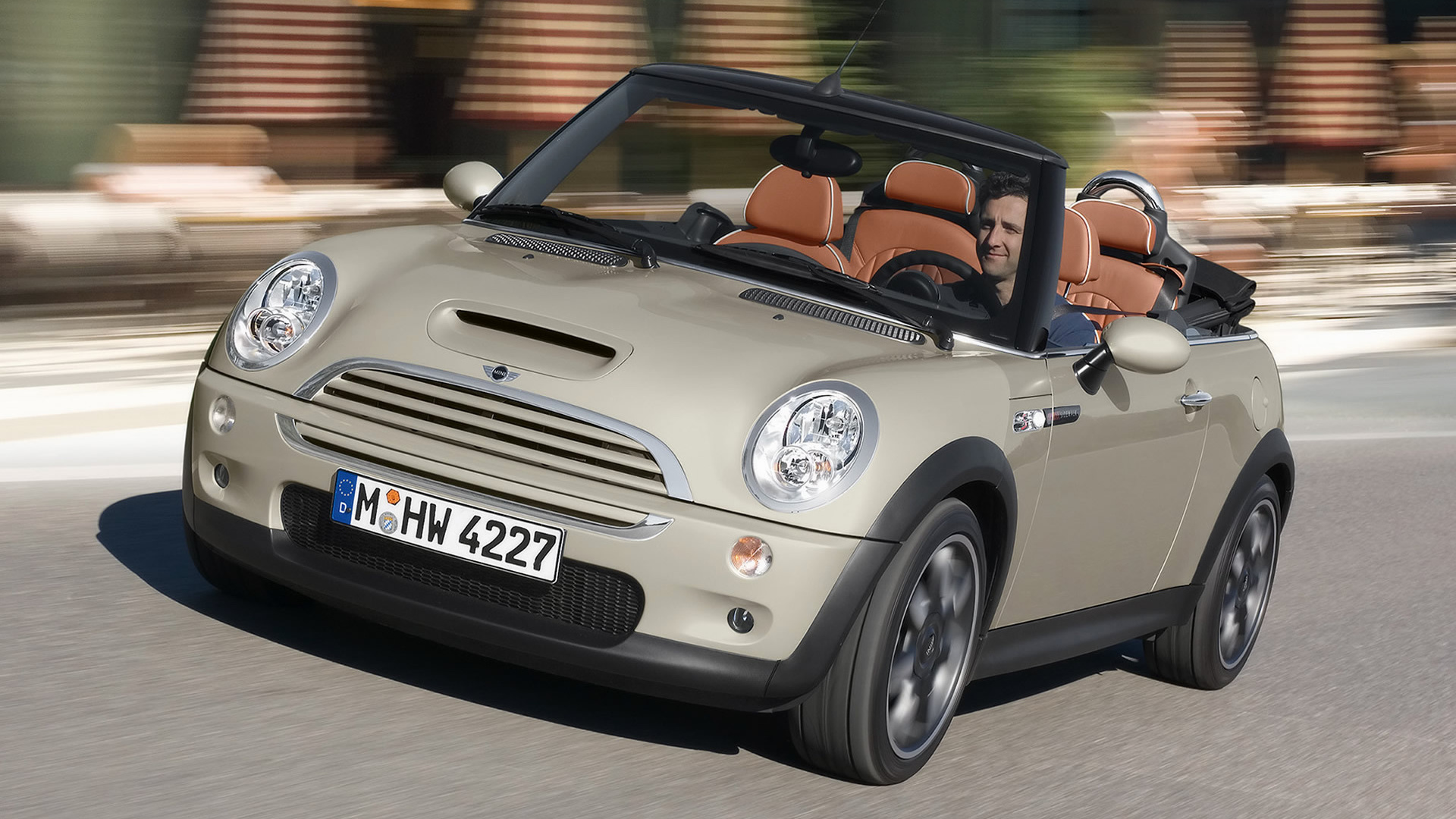 2007 mini cooper s cabrio sidewalk wallpapers and hd. Black Bedroom Furniture Sets. Home Design Ideas