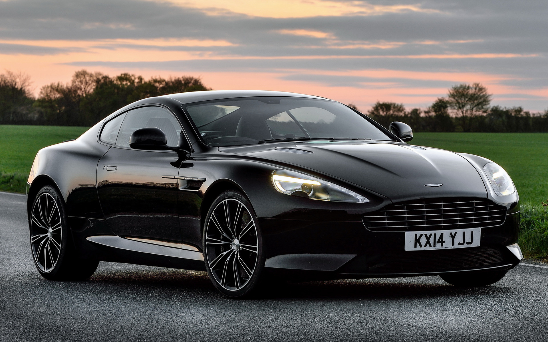 2014 aston martin db9 carbon black (uk) - wallpapers and hd images