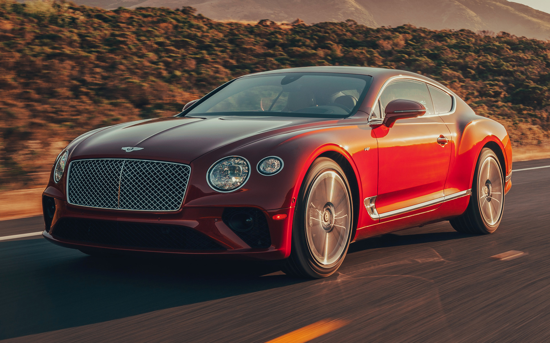 2020 Bentley Continental Gt V8 Us Wallpapers And Hd