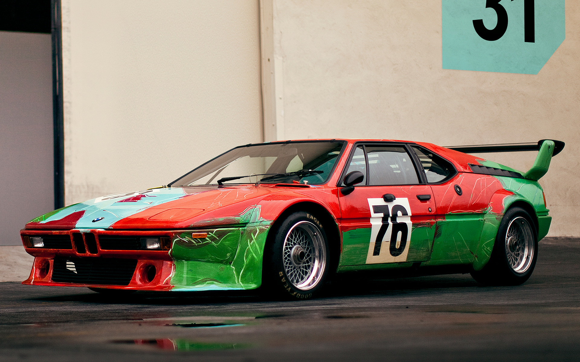 Bmw M1 Group 4 Art Car By Andy Warhol 1979 Wallpapers