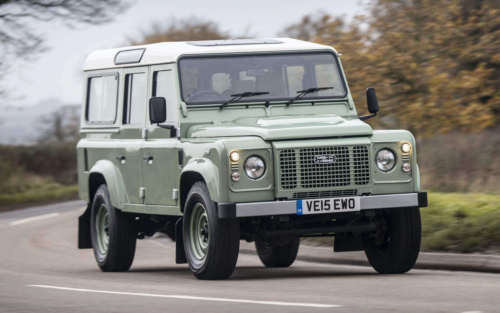 Land Rover Defender 110 Heritage 2015 Uk Wallpapers And