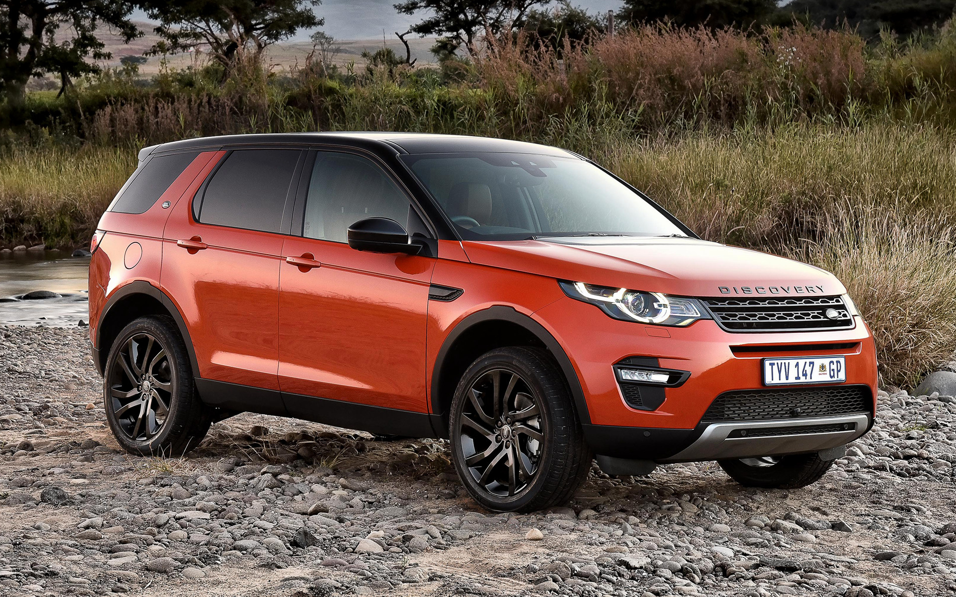land rover discovery sport hse luxury black design pack 2015 za wallpapers and hd images car. Black Bedroom Furniture Sets. Home Design Ideas
