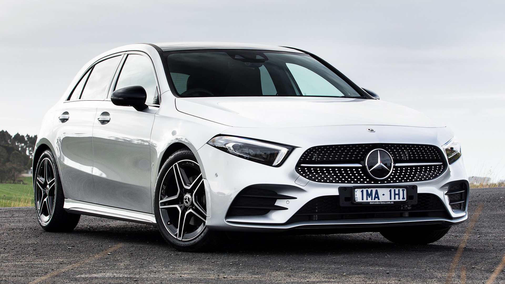 2018 mercedes benz a class amg line au wallpapers and. Black Bedroom Furniture Sets. Home Design Ideas