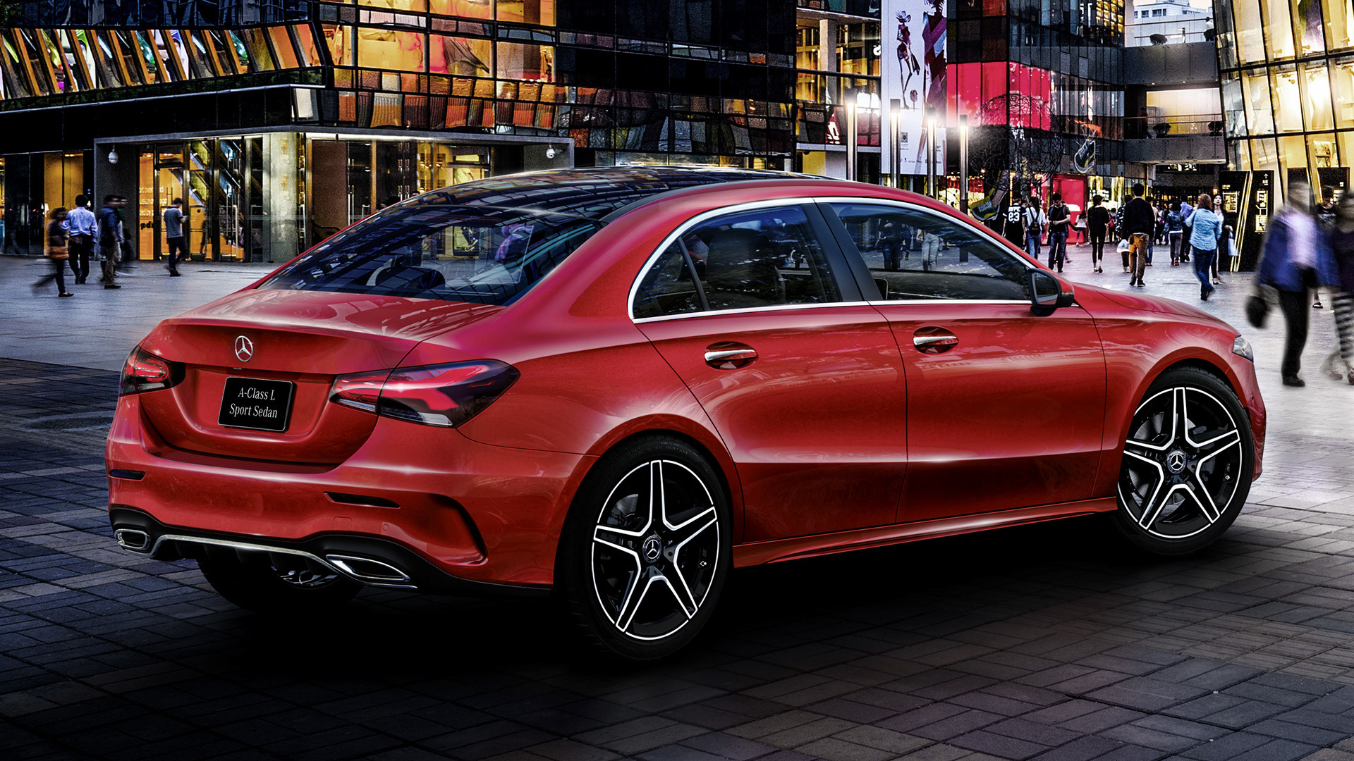 mercedes benz a class sedan amg styling long 2019 cn wallpapers and hd images car pixel. Black Bedroom Furniture Sets. Home Design Ideas