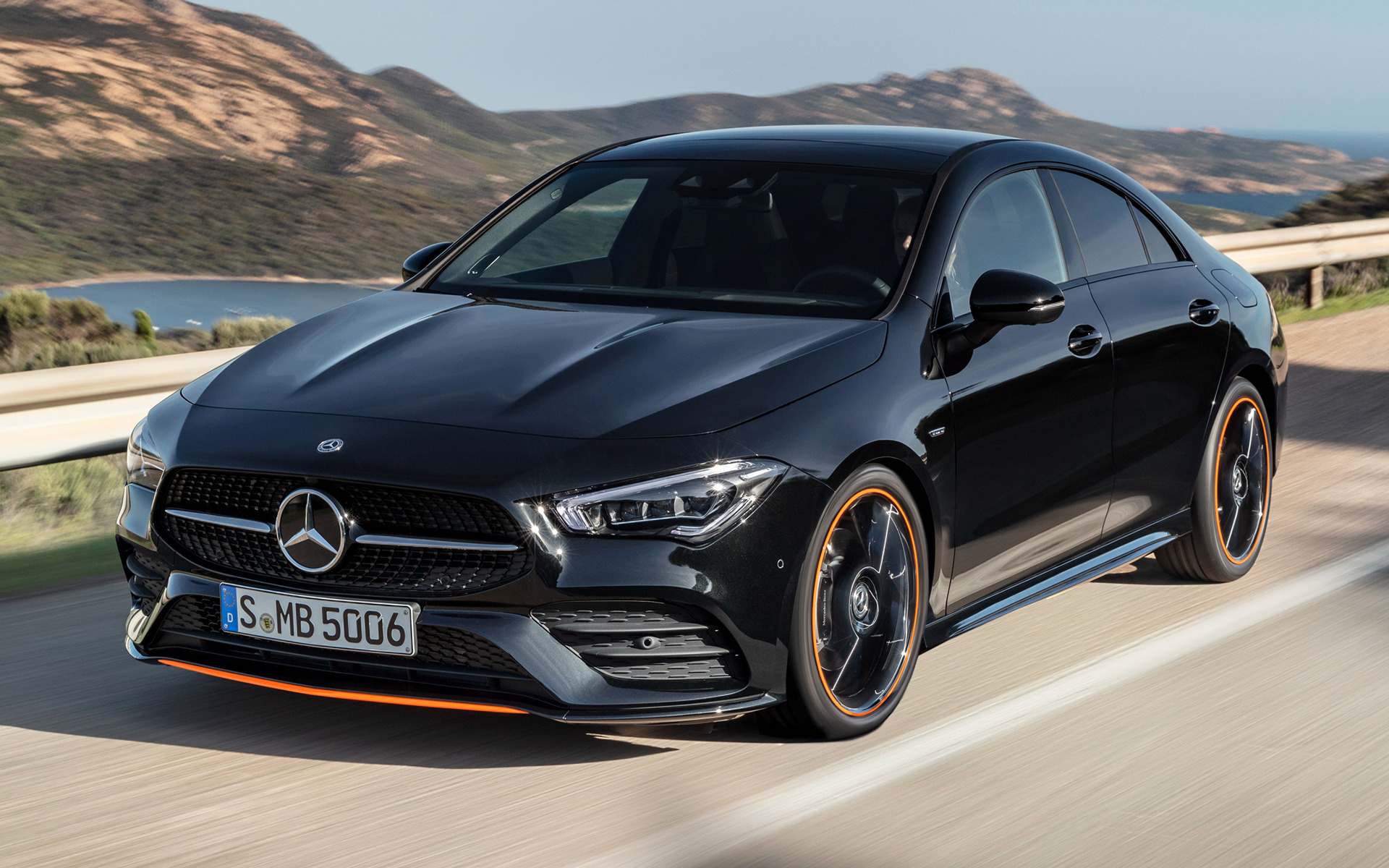 2019 mercedes benz cla class orangeart edition wallpapers and hd images car pixel. Black Bedroom Furniture Sets. Home Design Ideas