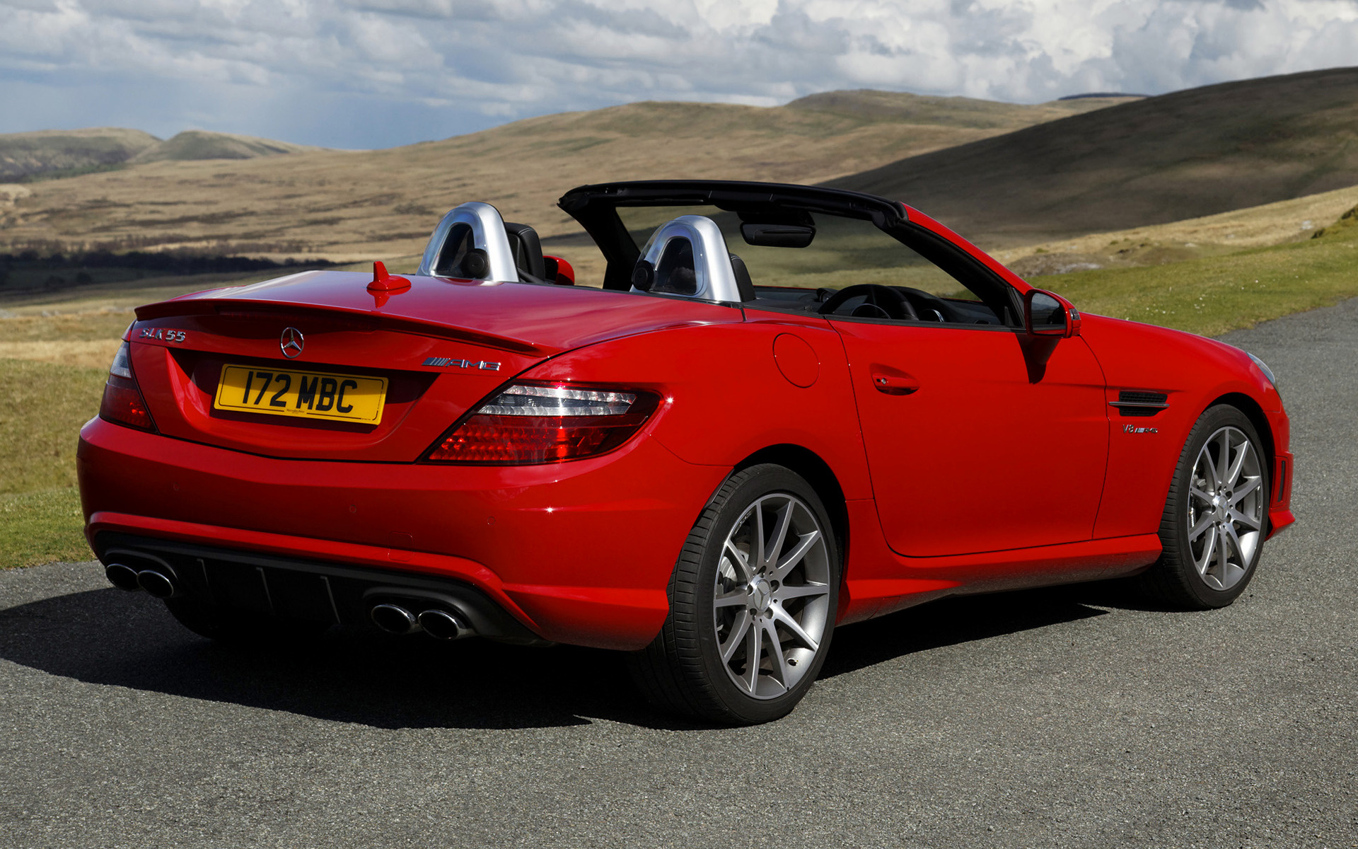 2012 mercedes benz slk 55 amg uk wallpapers and hd. Black Bedroom Furniture Sets. Home Design Ideas