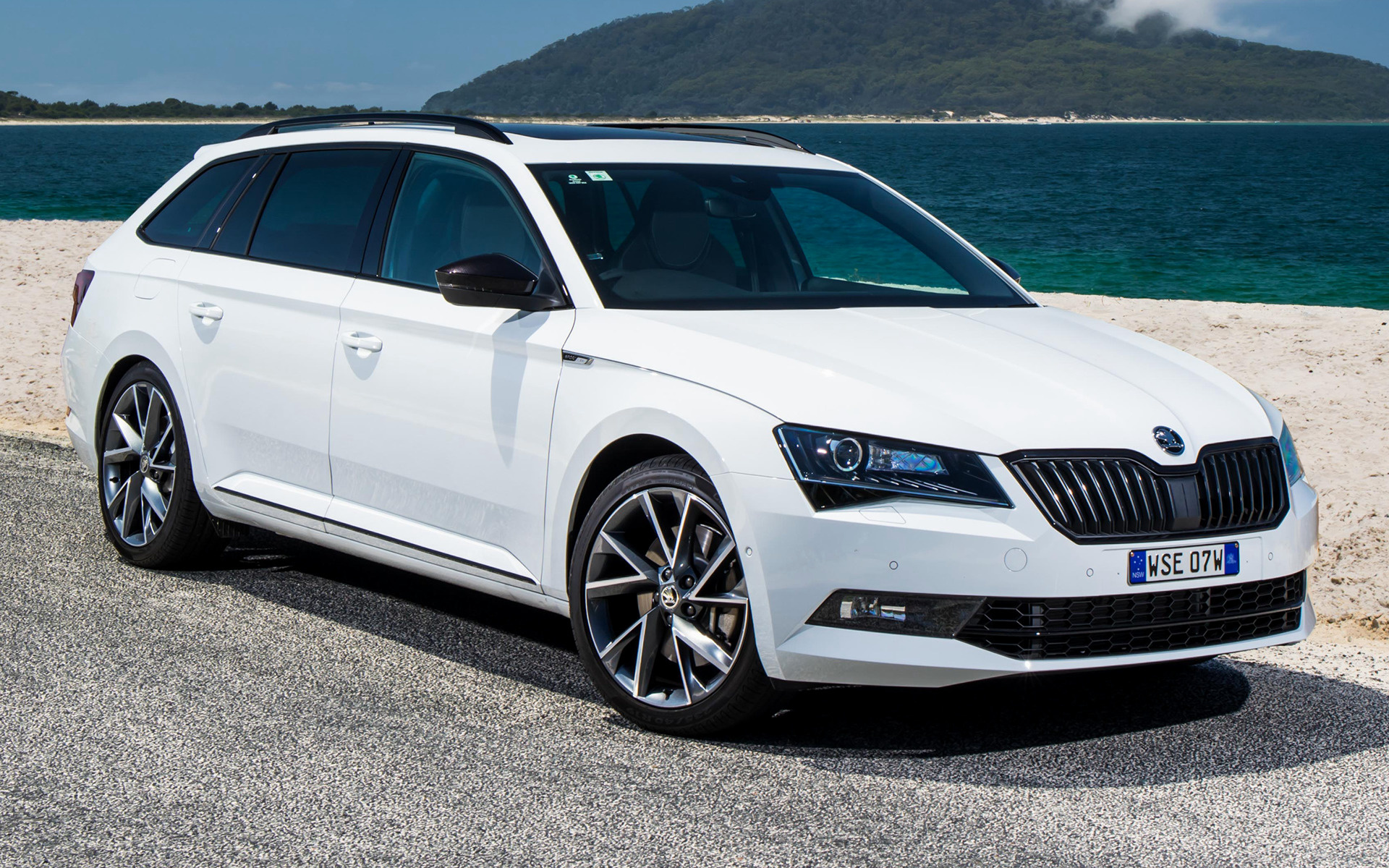 skoda superb wagon sportline 2017 au wallpapers and hd images car pixel. Black Bedroom Furniture Sets. Home Design Ideas