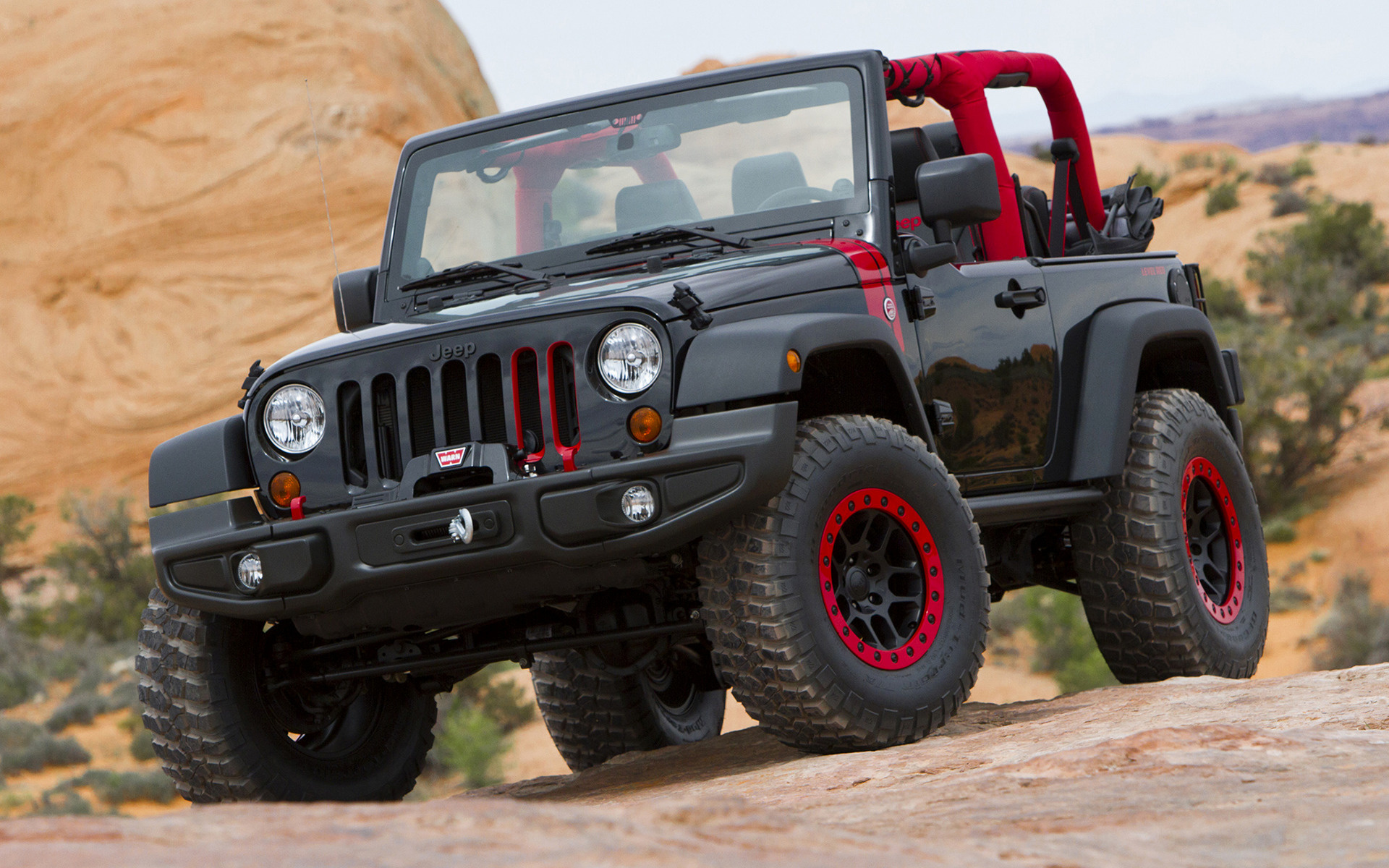 Jeep Car Images Hd: 2014 Jeep Wrangler Level Red Concept