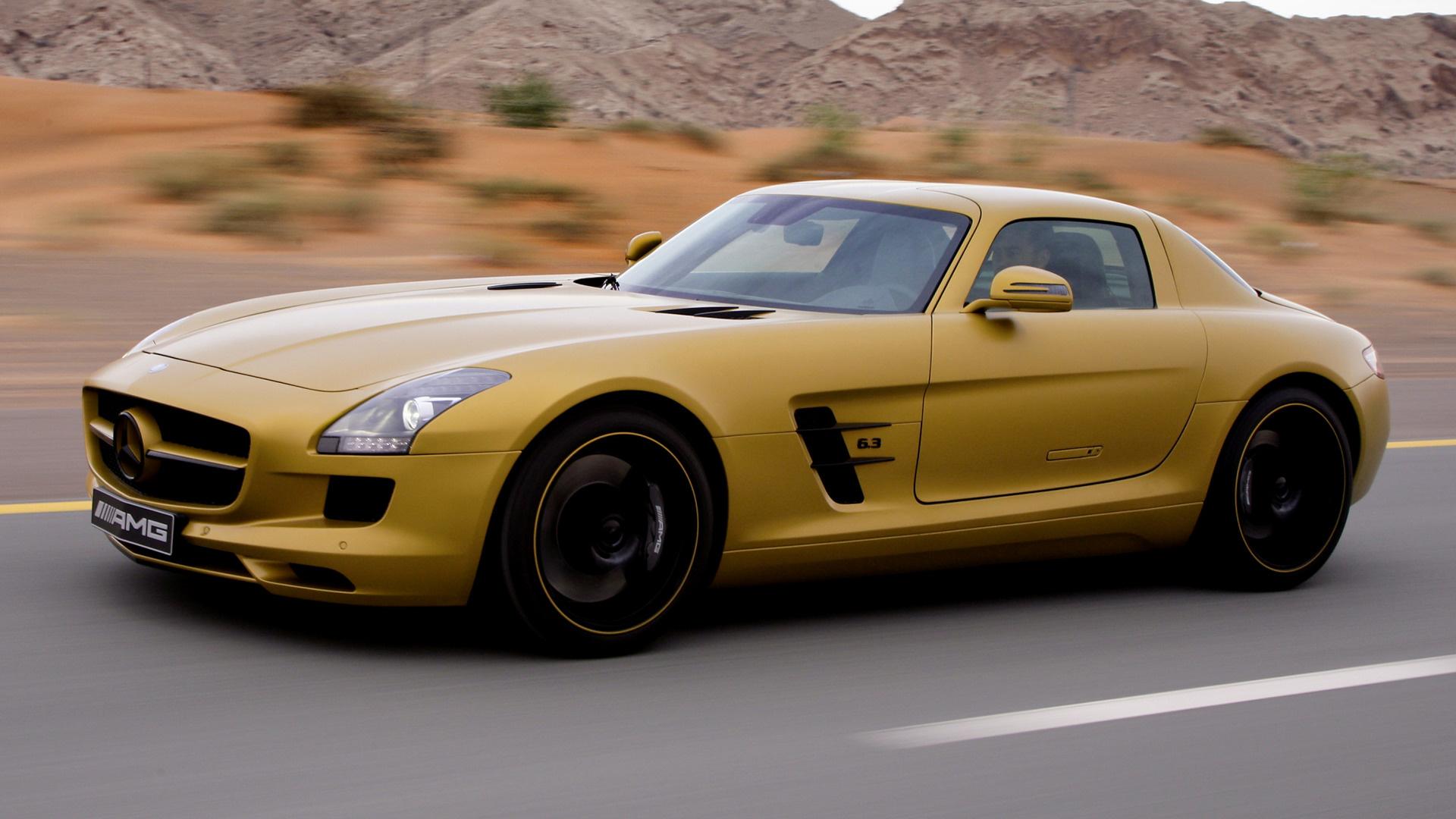 2010 Mercedes-Benz SLS AMG Desert Gold - Wallpapers and HD ...