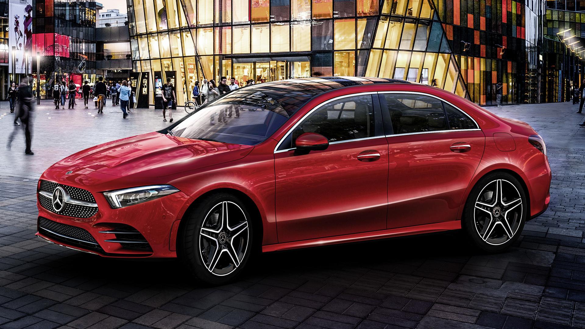 Mercedes Benz A Class Sedan Amg Styling Long 2019 Cn Wallpapers