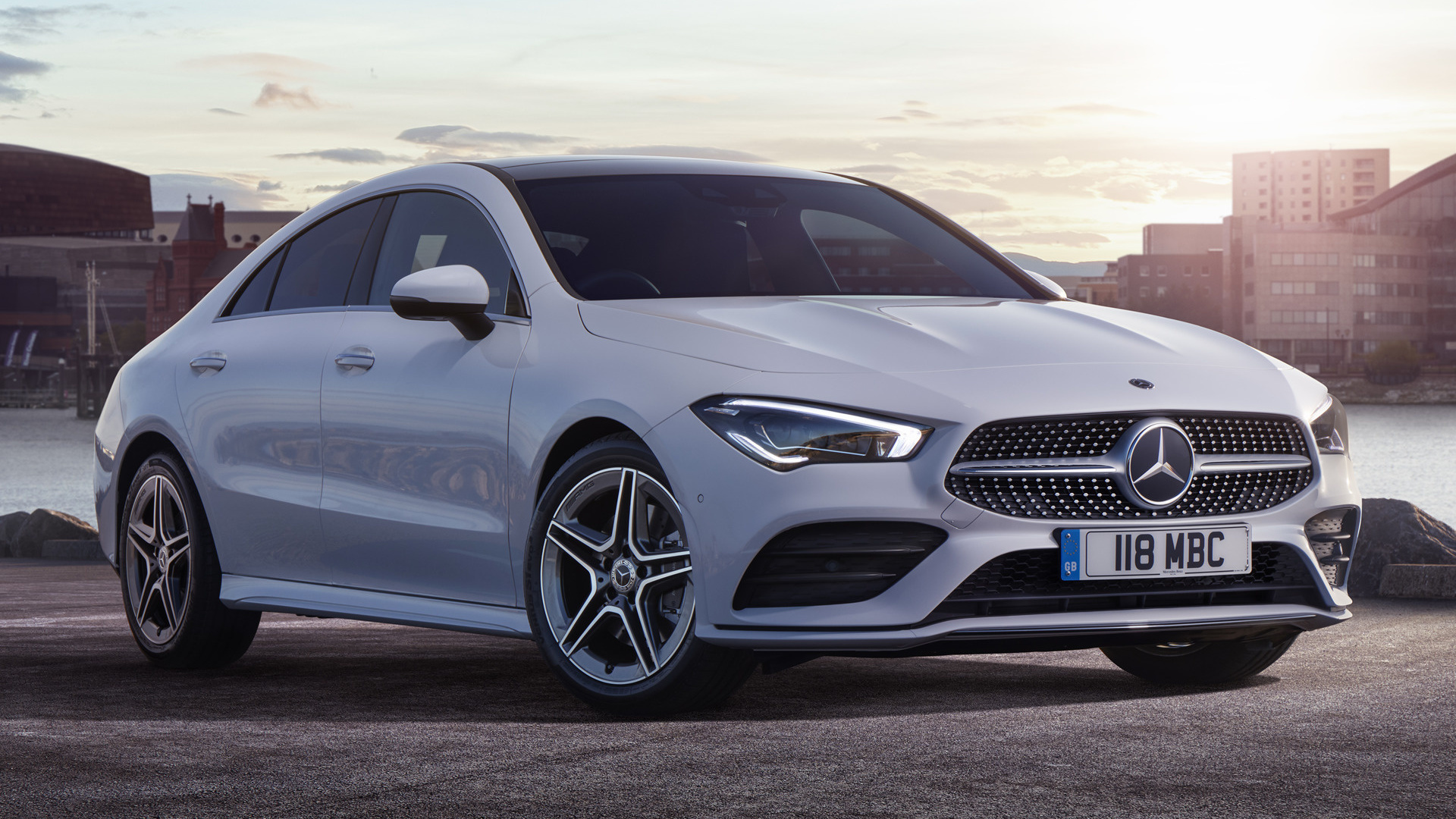 2019 mercedes benz cla class amg line uk wallpapers. Black Bedroom Furniture Sets. Home Design Ideas
