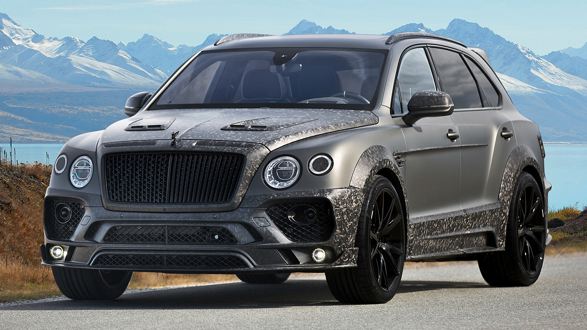 2017 bentley bentayga black edition by mansory wallpapers and hd images car pixel. Black Bedroom Furniture Sets. Home Design Ideas