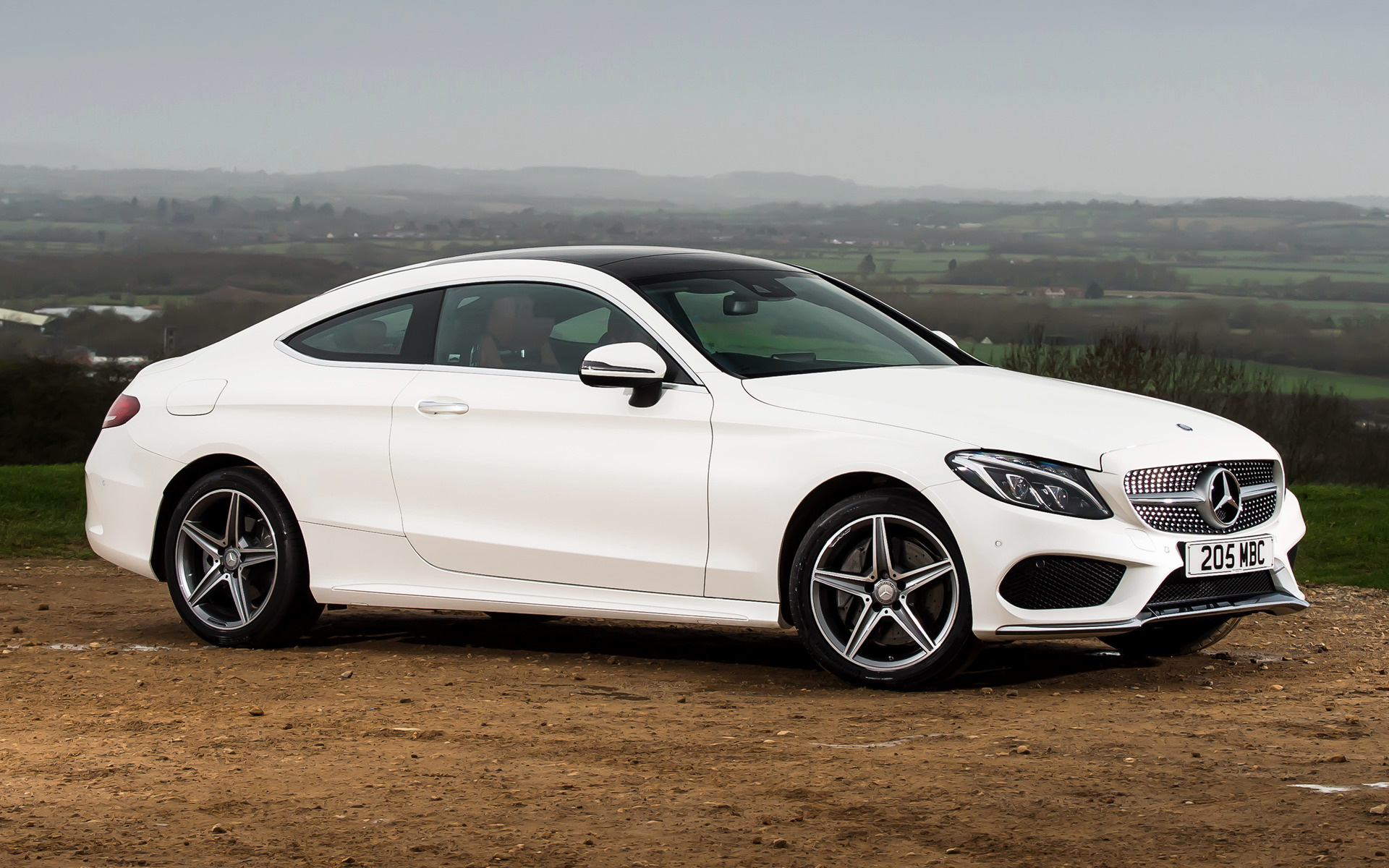 Mercedes-Benz C-Class Coupe AMG Line (2015) UK Wallpapers ...