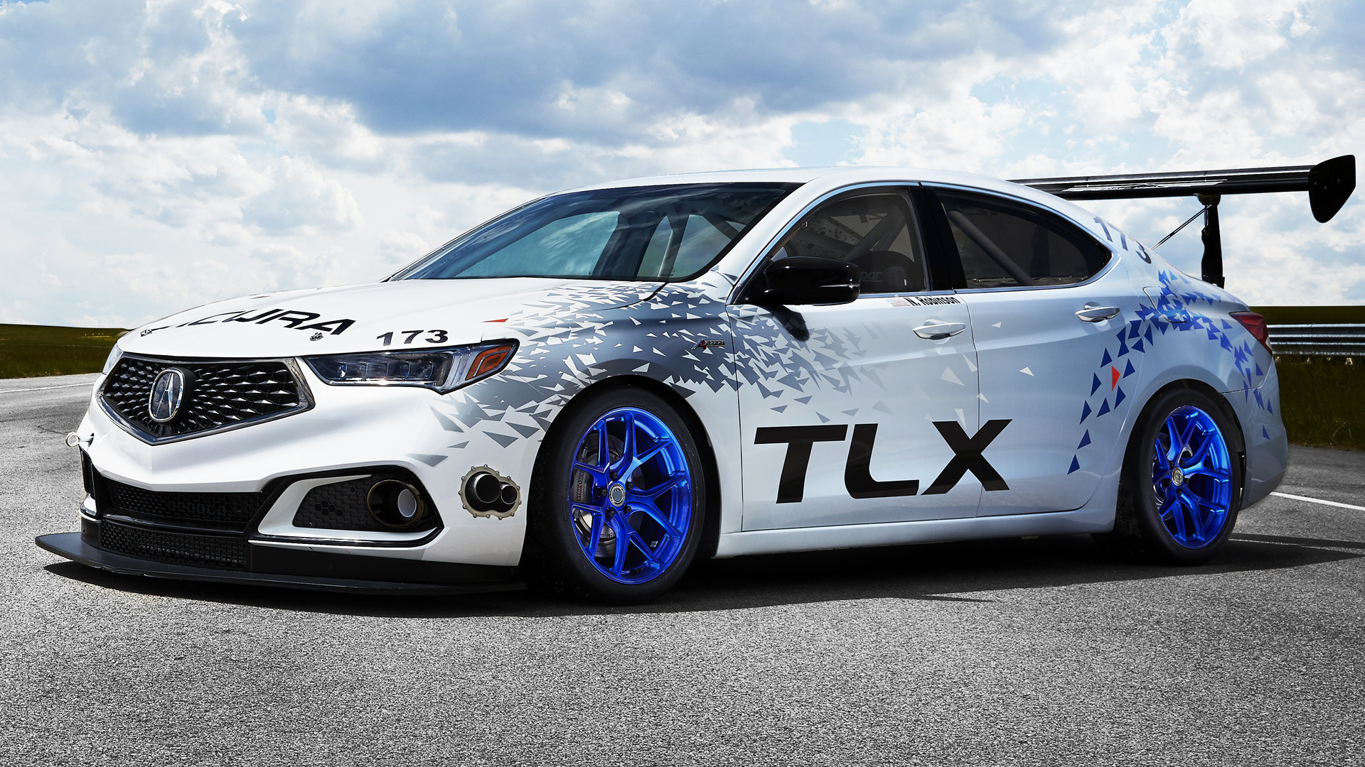 acura tlx a spec race car 2017 wallpapers and hd images car pixel. Black Bedroom Furniture Sets. Home Design Ideas