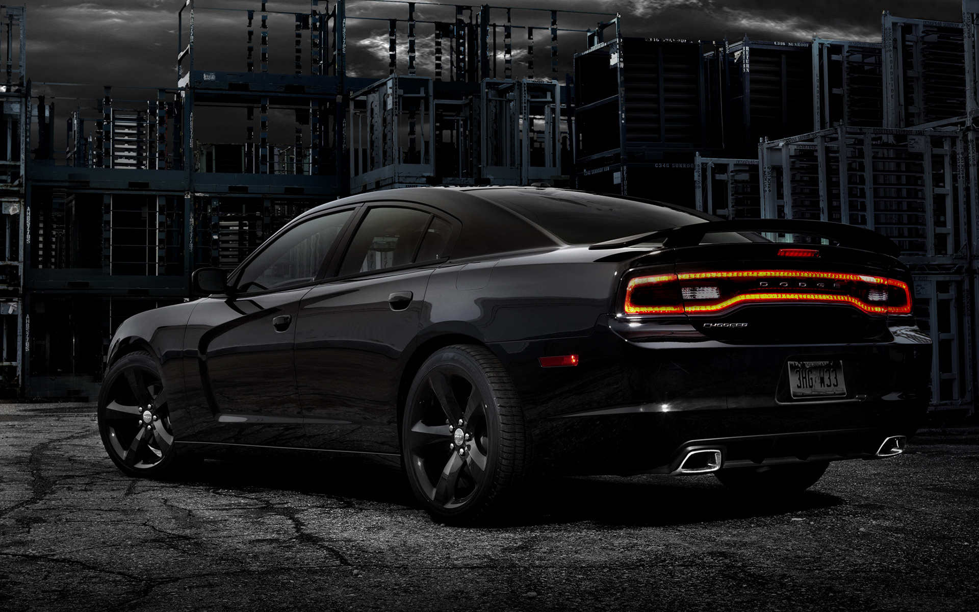 Dodge Charger Blacktop Car Wallpaper