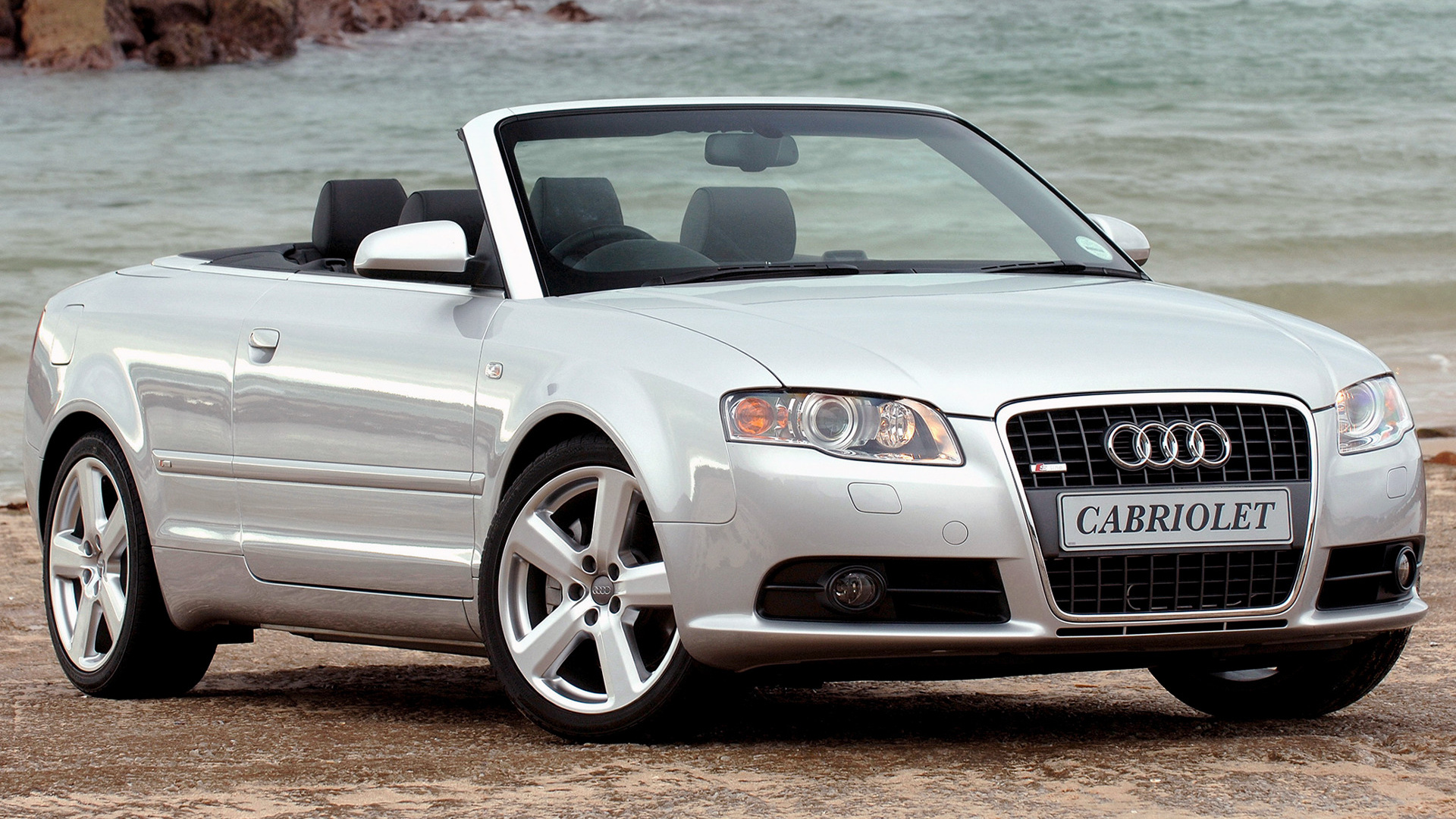 audi a4 cabriolet s line 2005 za wallpapers and hd. Black Bedroom Furniture Sets. Home Design Ideas