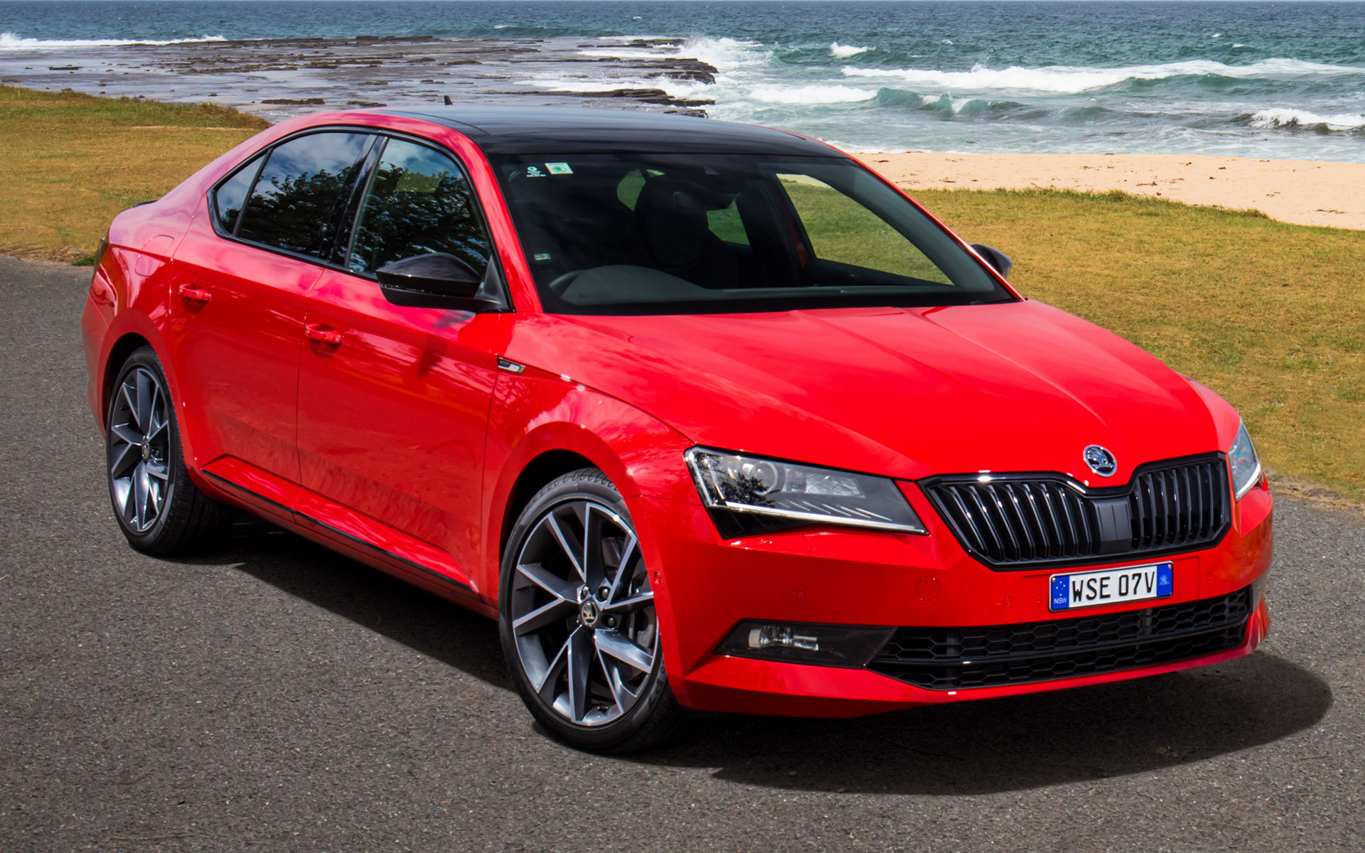 skoda superb sportline 2017 au wallpapers and hd images car pixel. Black Bedroom Furniture Sets. Home Design Ideas