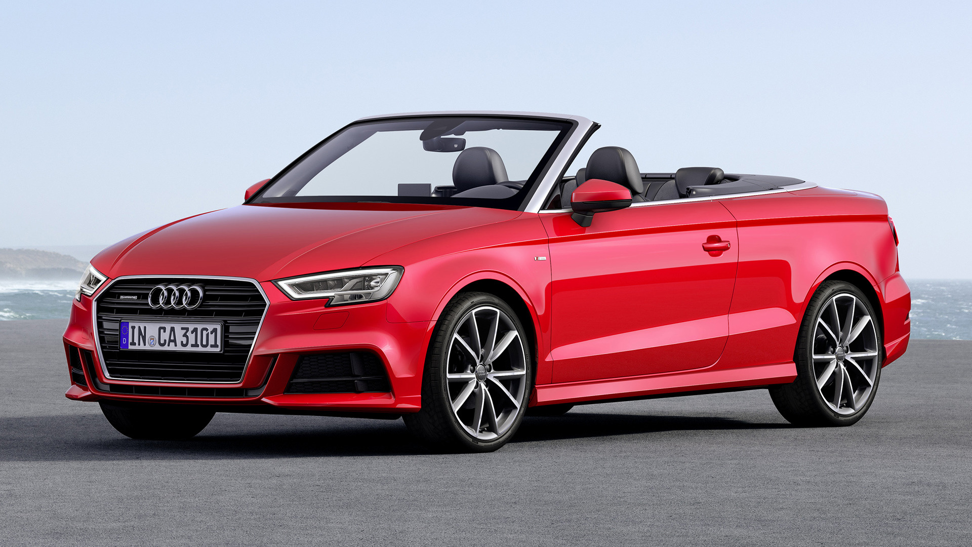 audi a3 cabriolet s line 2016 wallpapers and hd images car pixel. Black Bedroom Furniture Sets. Home Design Ideas