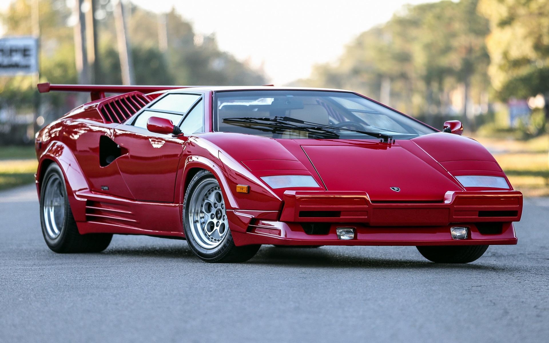 Lamborghini Countach 25 176 Anniversario 1988 Us Wallpapers
