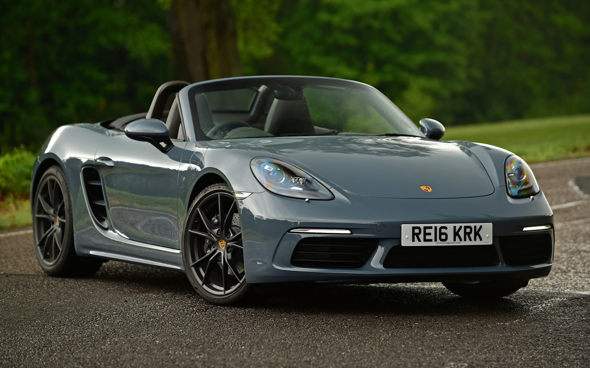 2016 porsche 718 boxster uk wallpapers and hd images. Black Bedroom Furniture Sets. Home Design Ideas