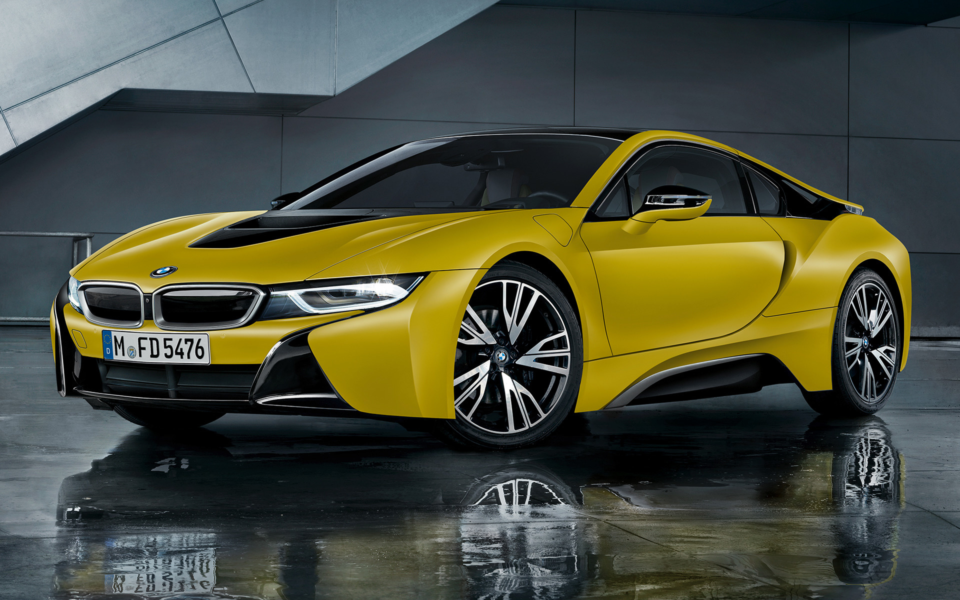 2017 BMW i8 Protonic Frozen Yellow Edition - Wallpapers ...