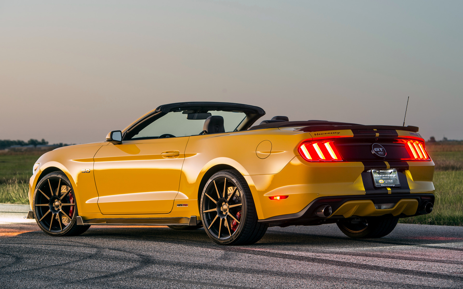 Ford Mustang Ecoboost >> 2016 Hennessey Mustang GT Convertible HPE750 Supercharged - Wallpapers and HD Images | Car Pixel