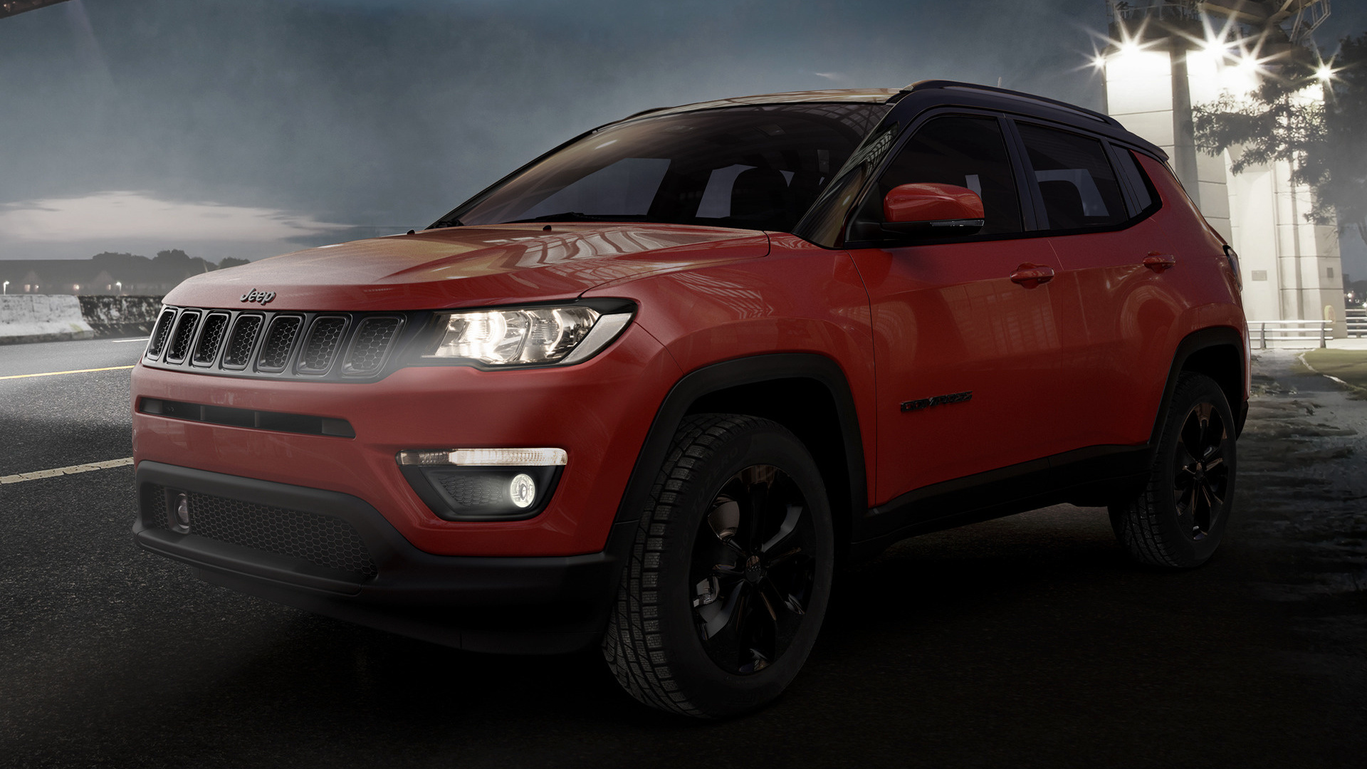 jeep compass night eagle 2018 eu wallpapers and hd images car pixel. Black Bedroom Furniture Sets. Home Design Ideas