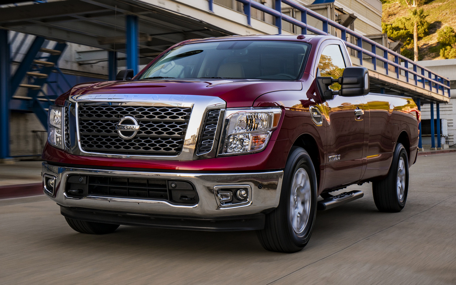 nissan titan sv 2017 wallpapers and hd images car pixel. Black Bedroom Furniture Sets. Home Design Ideas