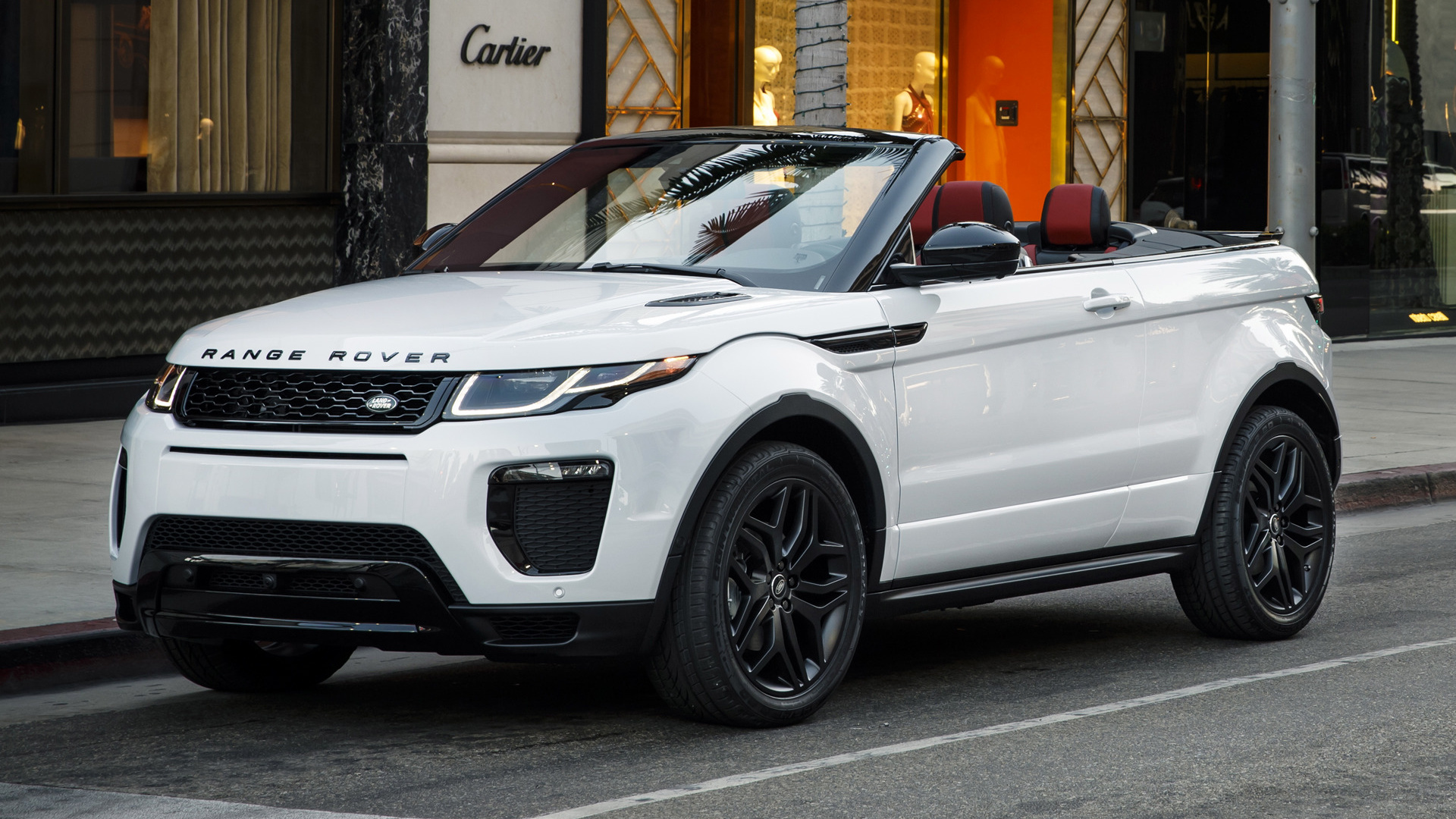 range rover evoque convertible dynamic 2017 us wallpapers and hd images car pixel. Black Bedroom Furniture Sets. Home Design Ideas