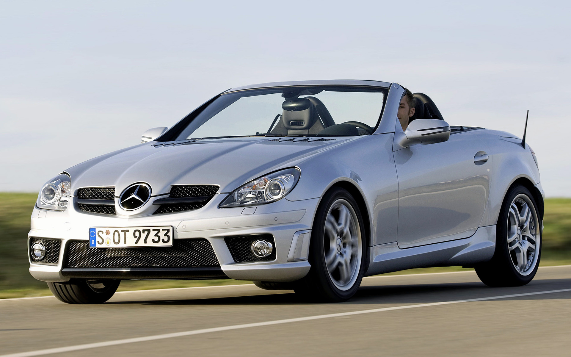 mercedes benz slk 55 amg 2008 wallpapers and hd images car pixel. Black Bedroom Furniture Sets. Home Design Ideas