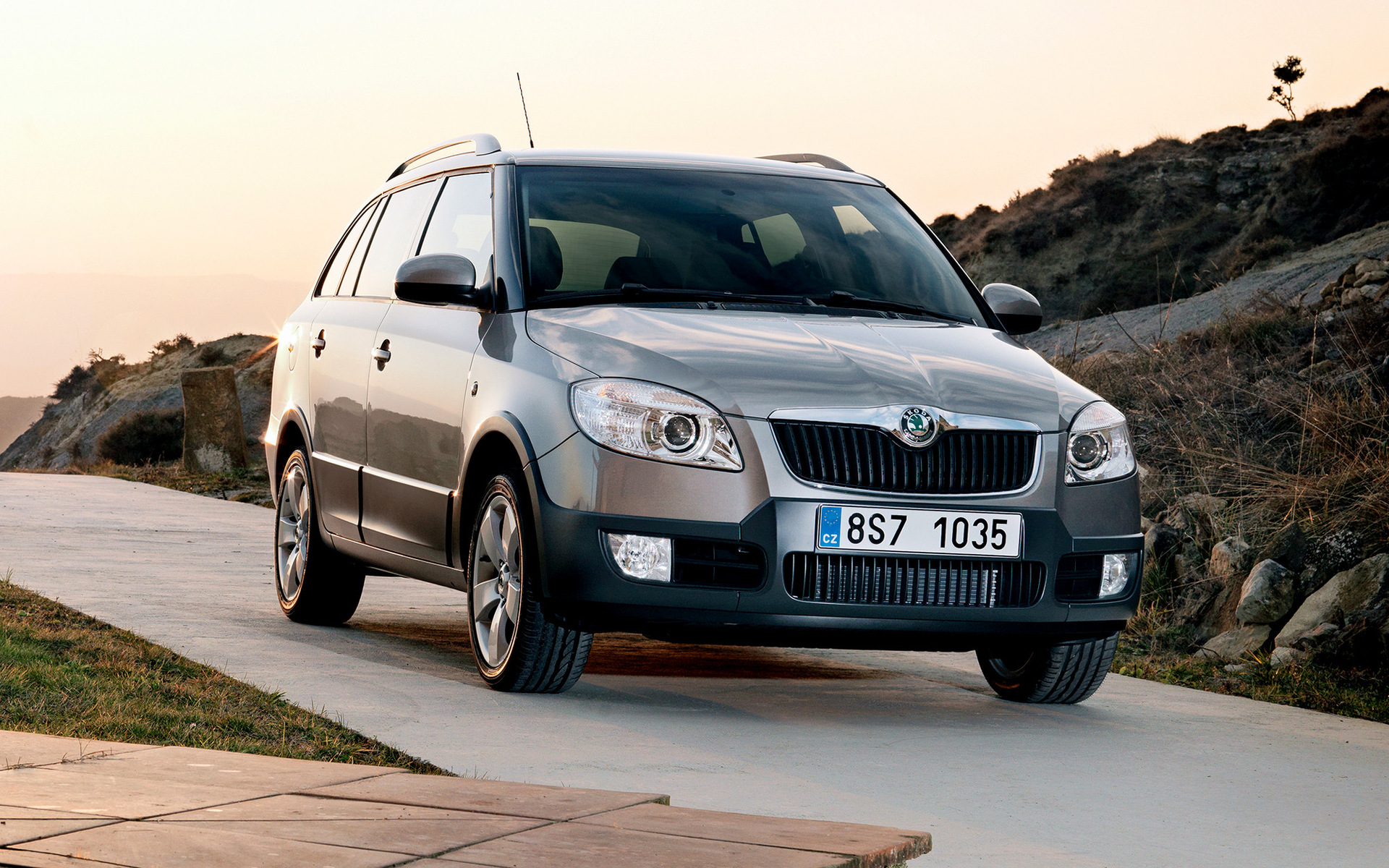 skoda fabia scout combi 2009 wallpapers and hd images. Black Bedroom Furniture Sets. Home Design Ideas