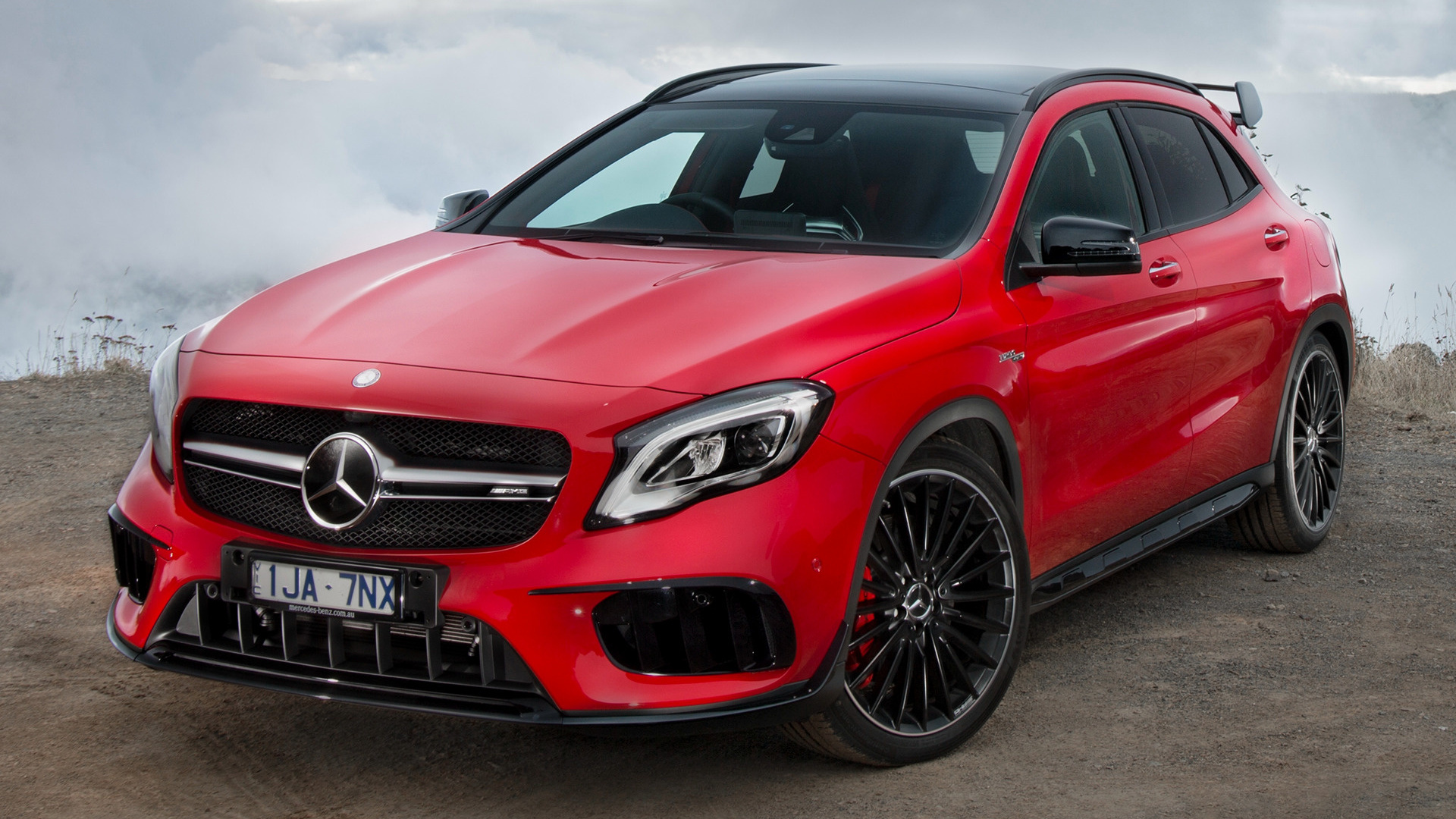 mercedes amg gla 45 aerodynamics package 2017 au wallpapers and hd images car pixel. Black Bedroom Furniture Sets. Home Design Ideas