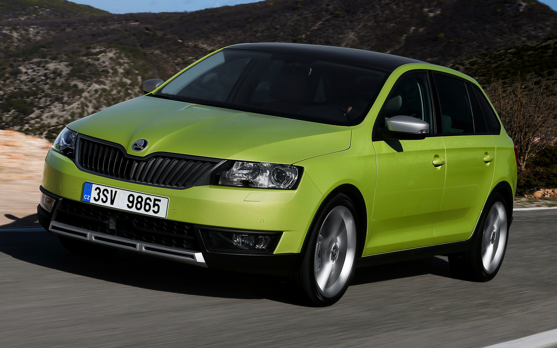 skoda rapid spaceback scoutline 2015 wallpapers and hd images car pixel. Black Bedroom Furniture Sets. Home Design Ideas