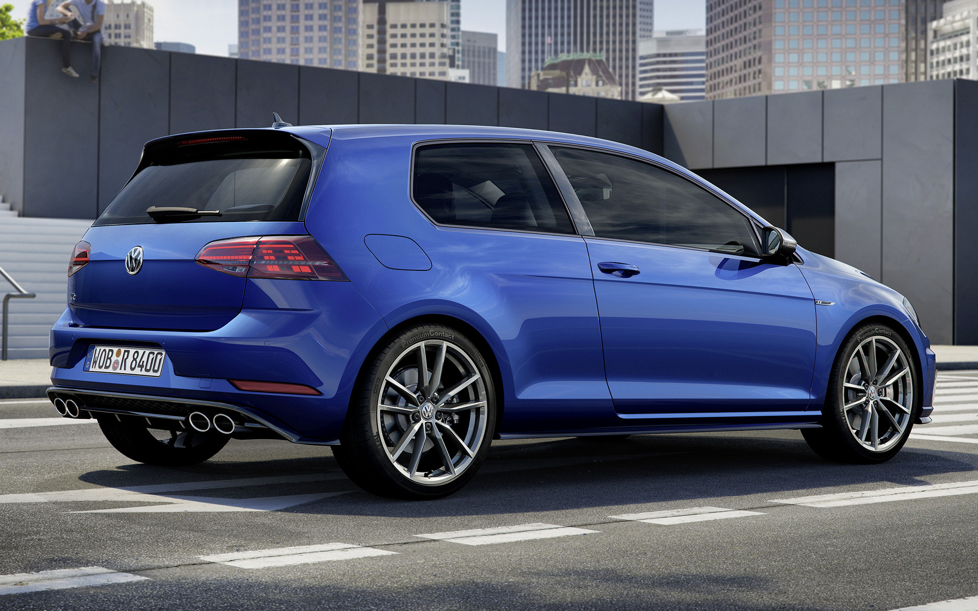 2017 volkswagen golf r 3 door wallpapers and hd images. Black Bedroom Furniture Sets. Home Design Ideas