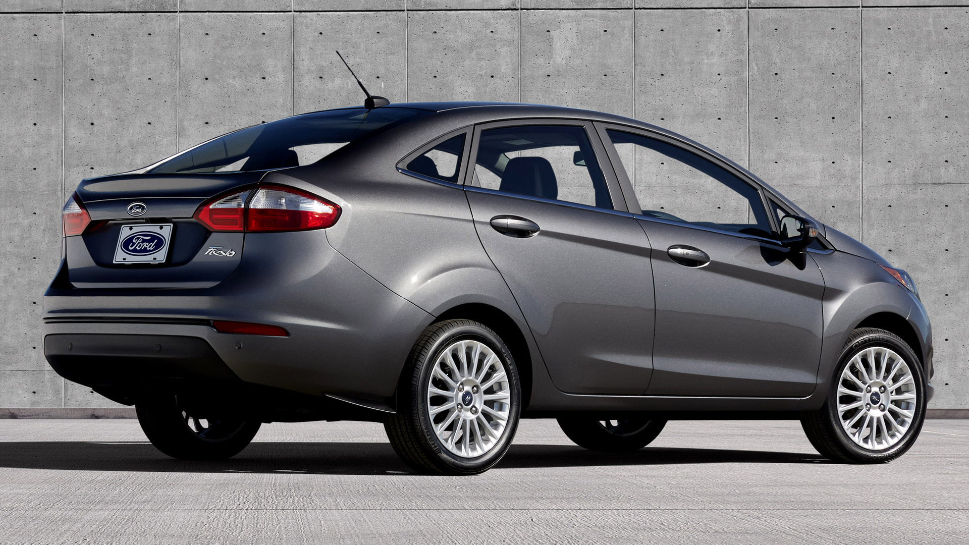 Ford Fiesta Titanium Sedan 2014 US Wallpapers And HD Images