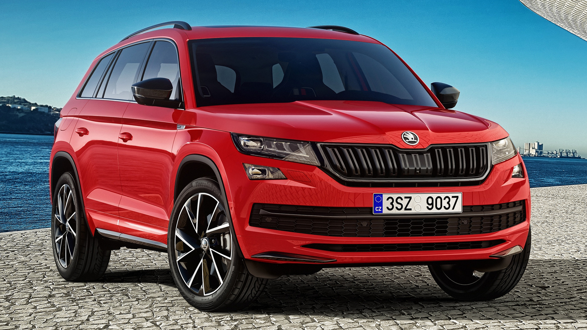 skoda kodiaq sportline 2017 wallpapers and hd images car pixel. Black Bedroom Furniture Sets. Home Design Ideas