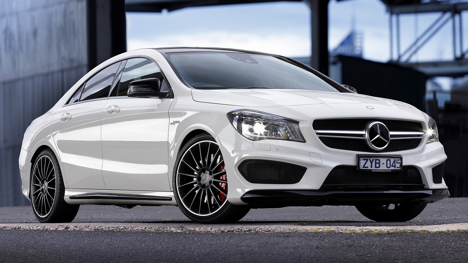 mercedes benz cla 45 amg 2013 au wallpapers and hd images car pixel. Black Bedroom Furniture Sets. Home Design Ideas