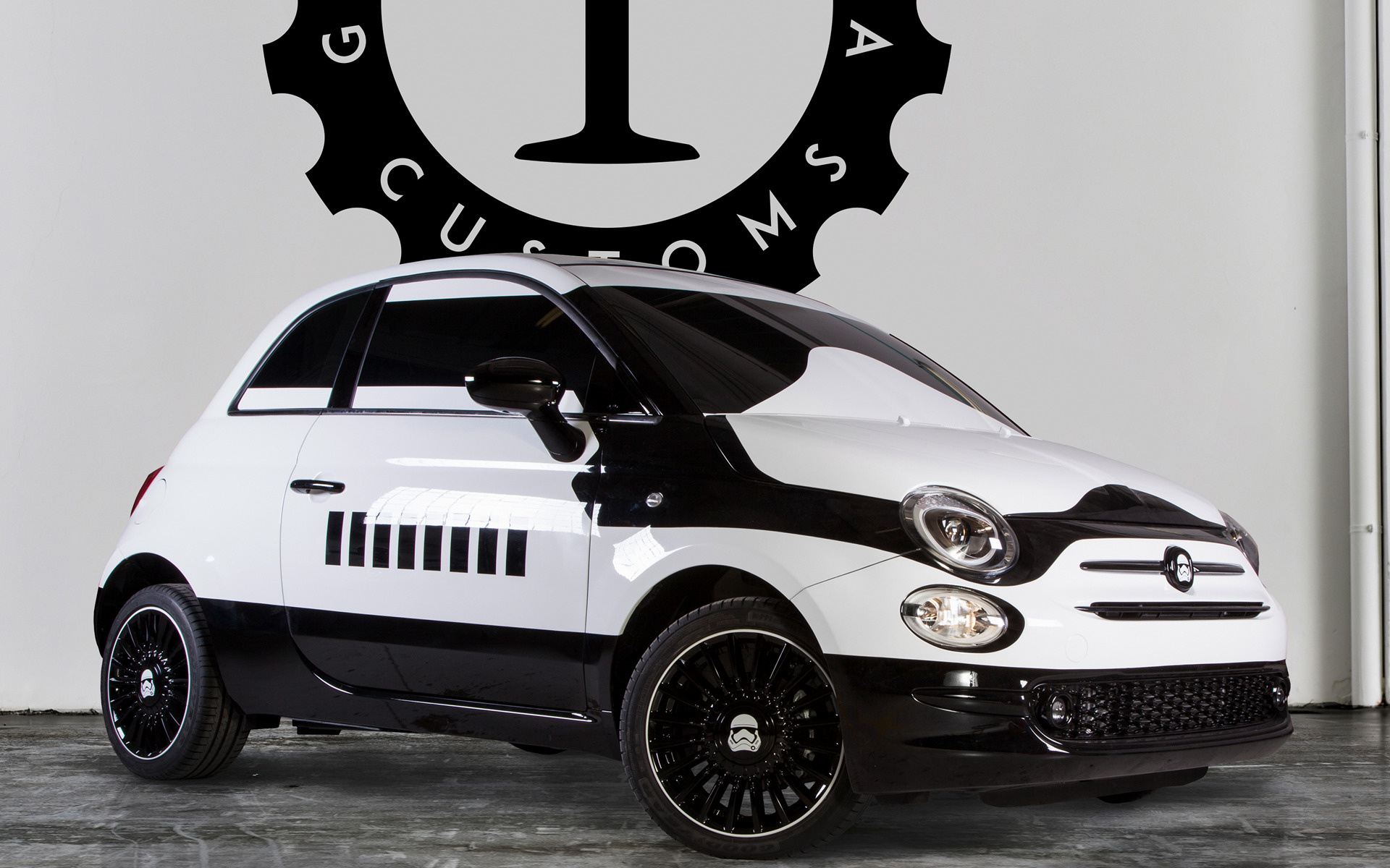 fiat 500 stormtrooper 2015 wallpapers and hd images. Black Bedroom Furniture Sets. Home Design Ideas