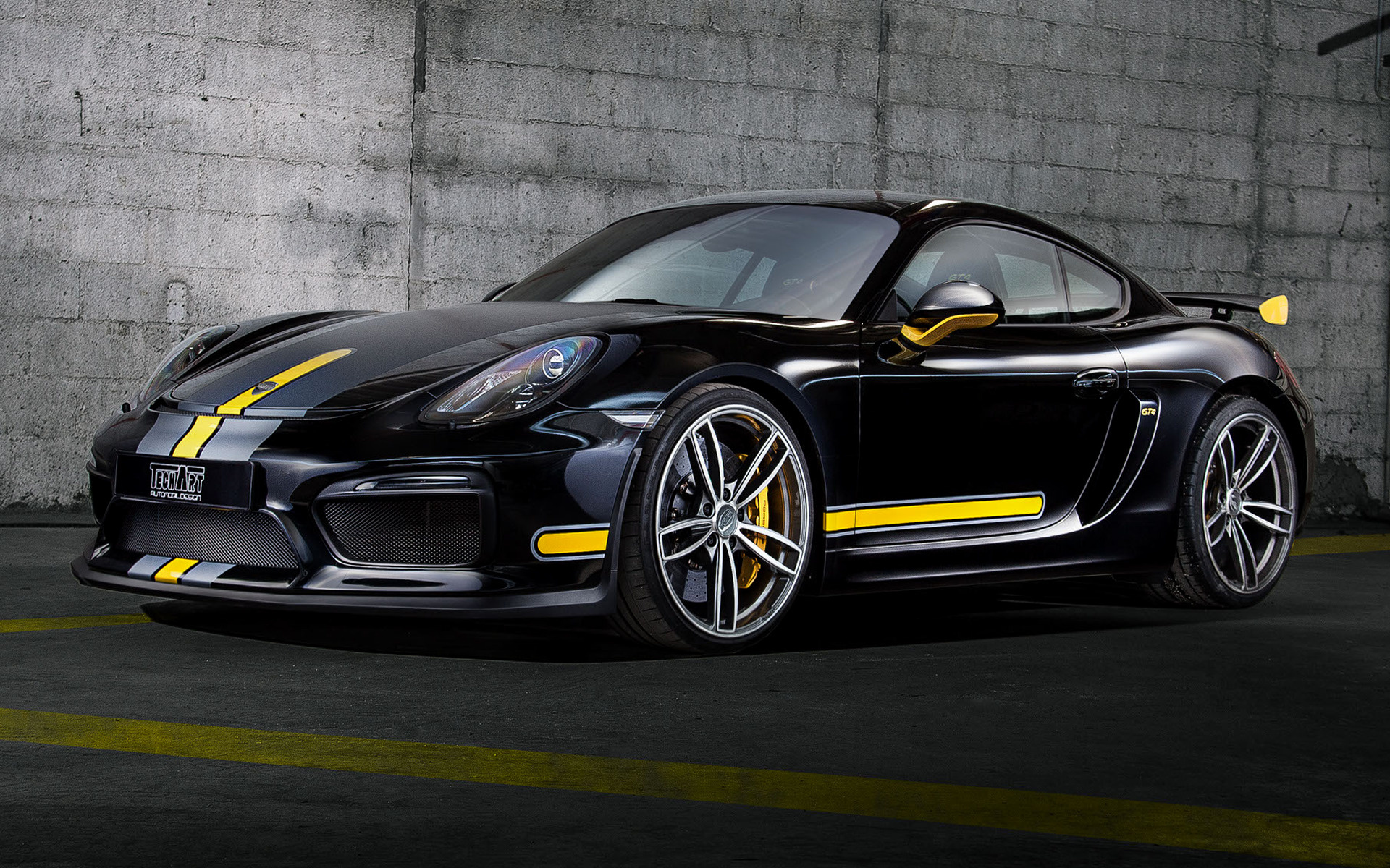 porsche cayman gt4 by techart 2016 wallpapers and hd. Black Bedroom Furniture Sets. Home Design Ideas