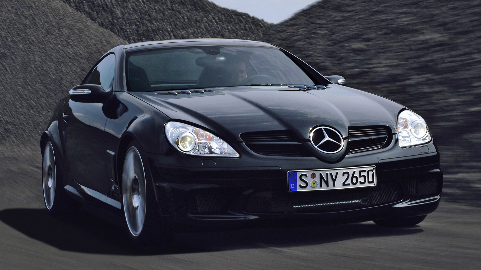 mercedes benz slk 55 amg black series 2006 wallpapers and hd images car pixel. Black Bedroom Furniture Sets. Home Design Ideas