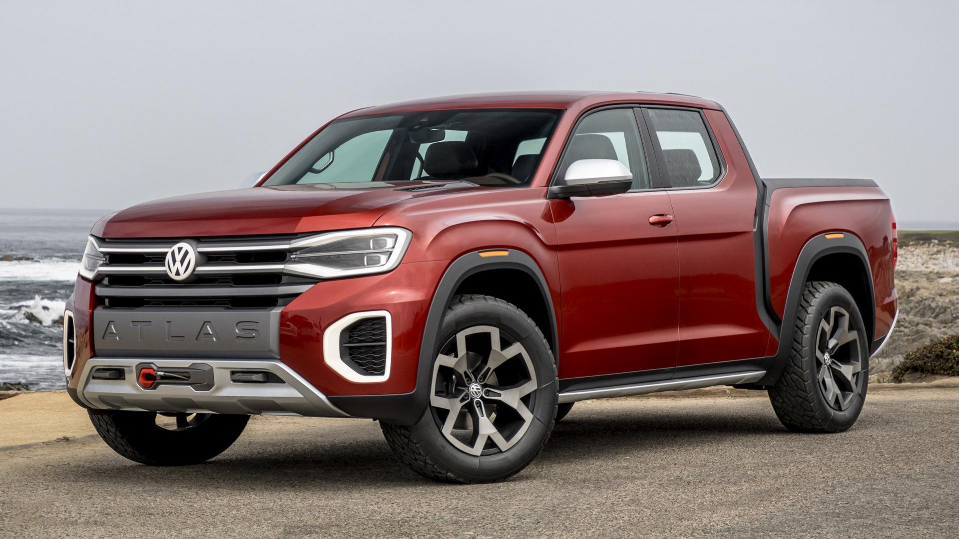 2018 Volkswagen Atlas Tanoak Pickup Truck Concept ...