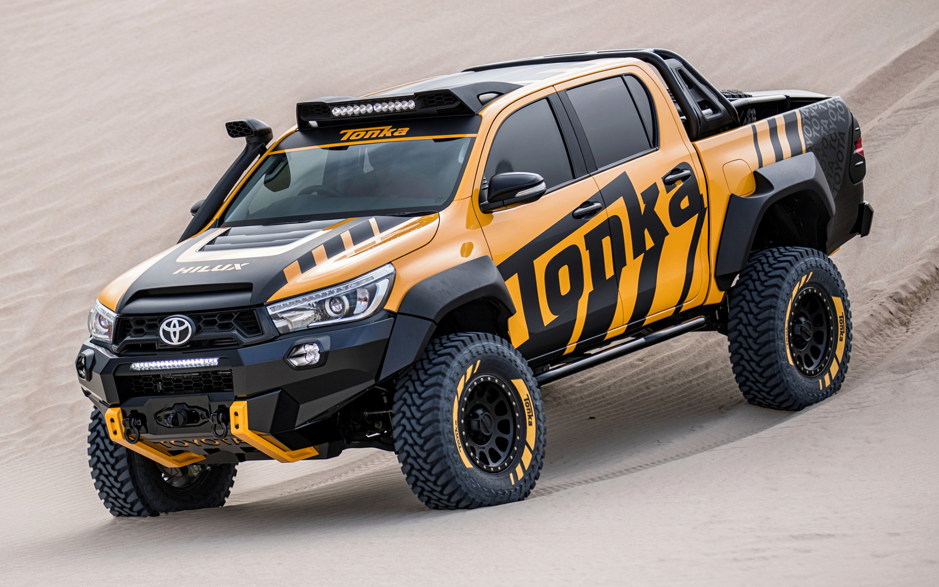 toyota hilux tonka concept 2017 wallpapers and hd images car pixel. Black Bedroom Furniture Sets. Home Design Ideas