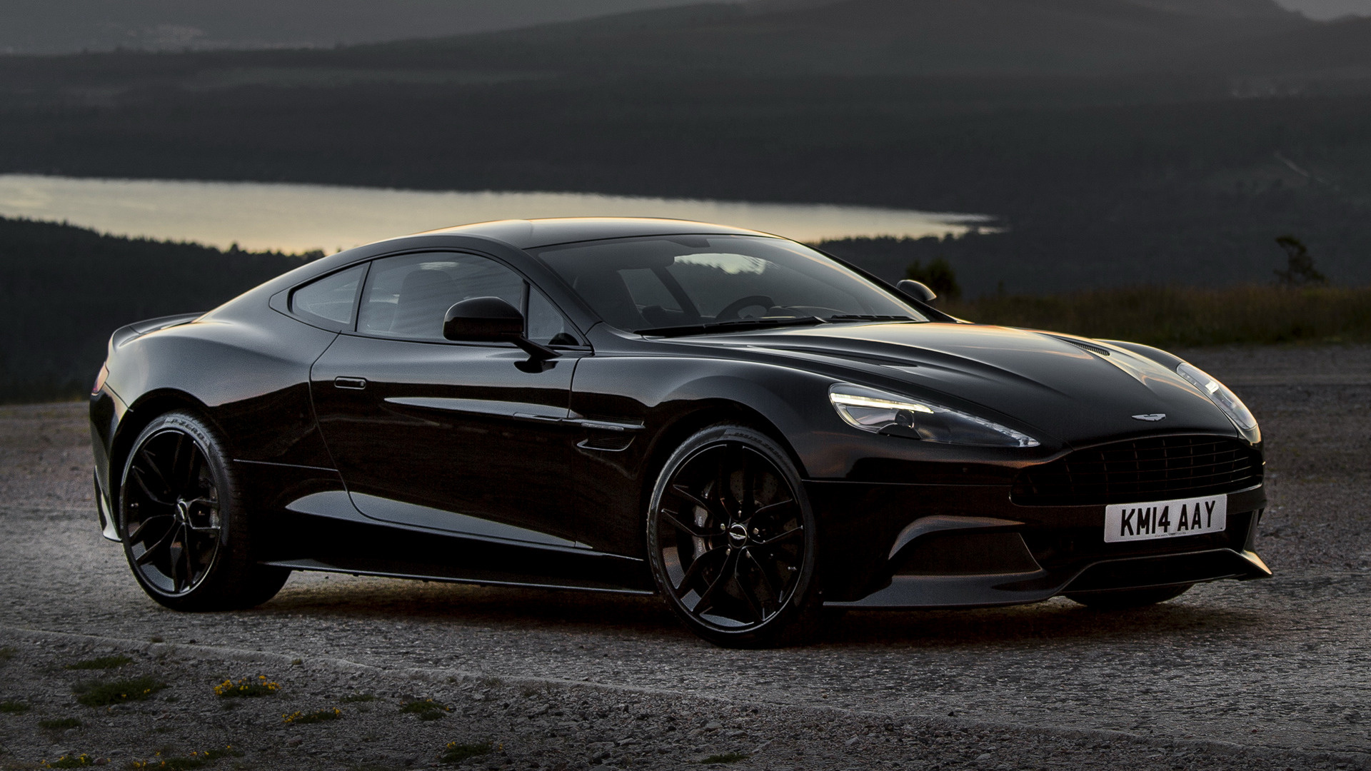2014 aston martin vanquish carbon black - wallpapers and hd images
