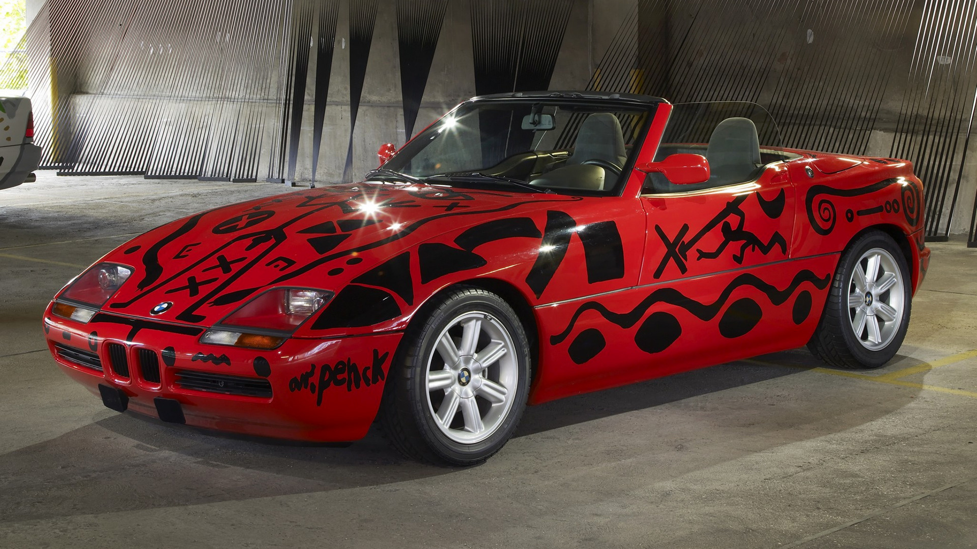 bmw z1 art car by a r penck 1991 wallpapers and hd images car pixel. Black Bedroom Furniture Sets. Home Design Ideas