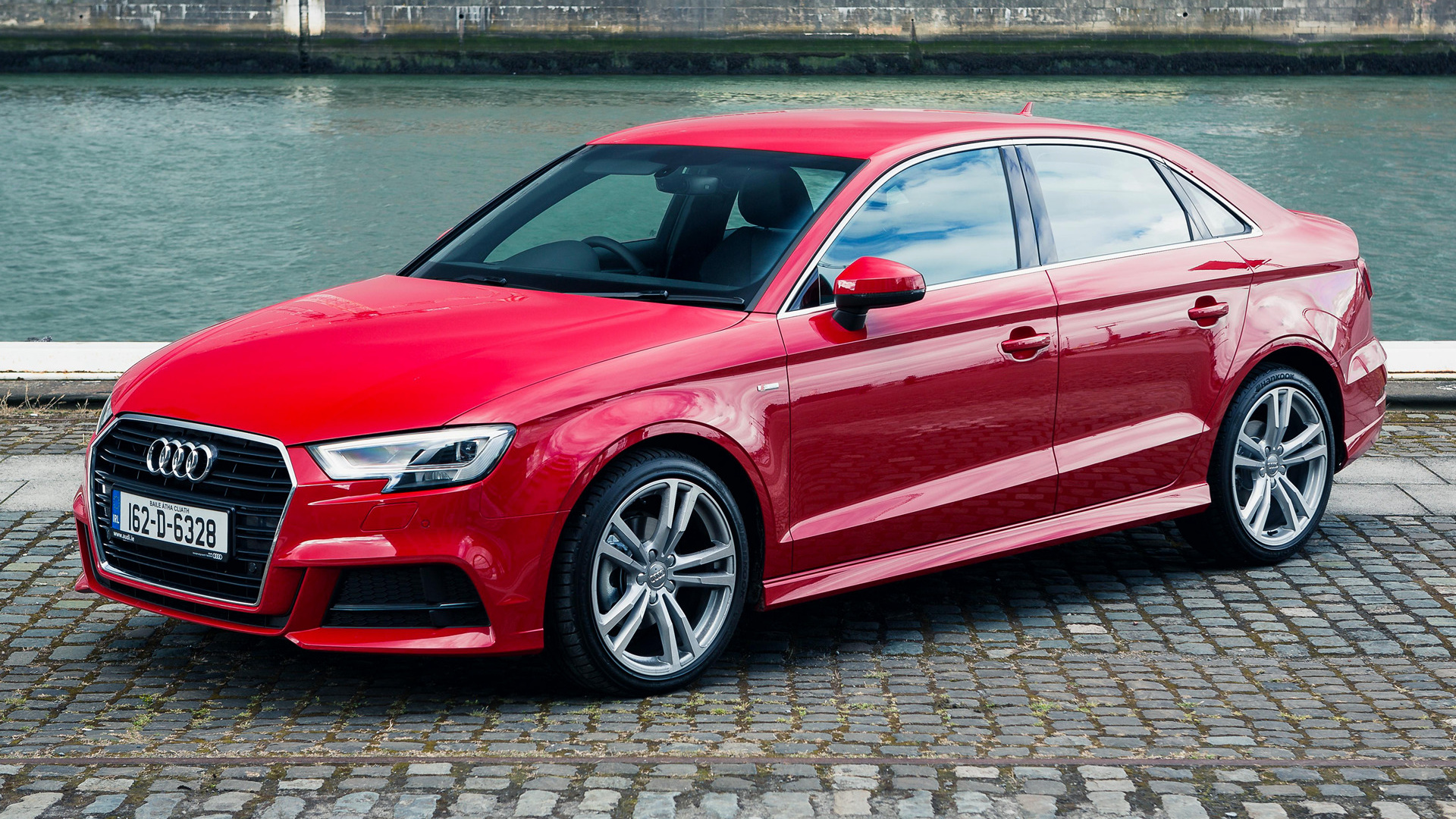 audi a3 saloon s line 2016 uk wallpapers and hd images. Black Bedroom Furniture Sets. Home Design Ideas