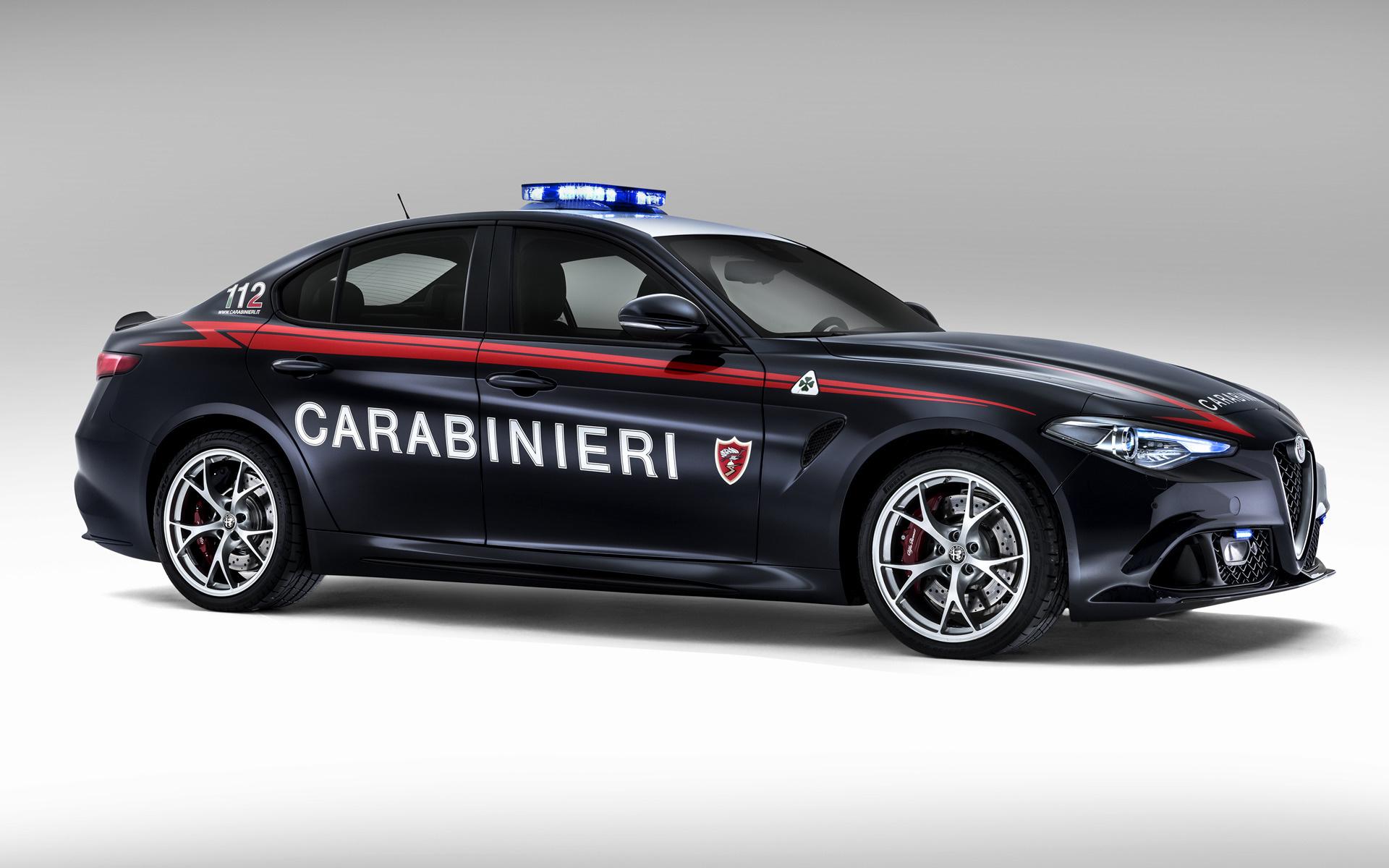 alfa romeo giulia quadrifoglio carabinieri  2016  wallpapers and hd images